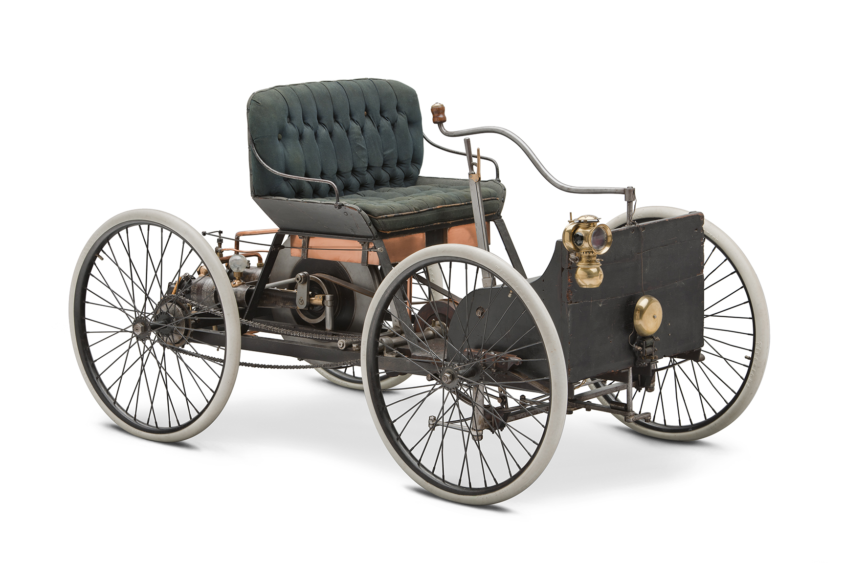1896 Ford Quadricycle front 3/4