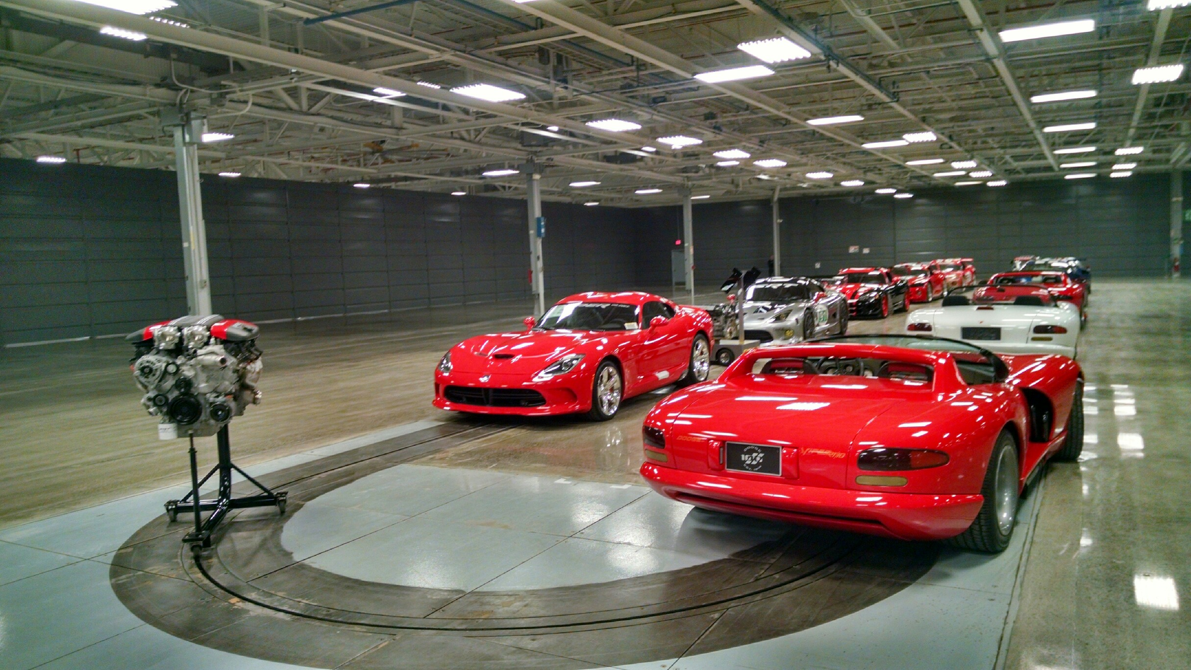 line of dodge vipers as part of the FCA Heritage collection