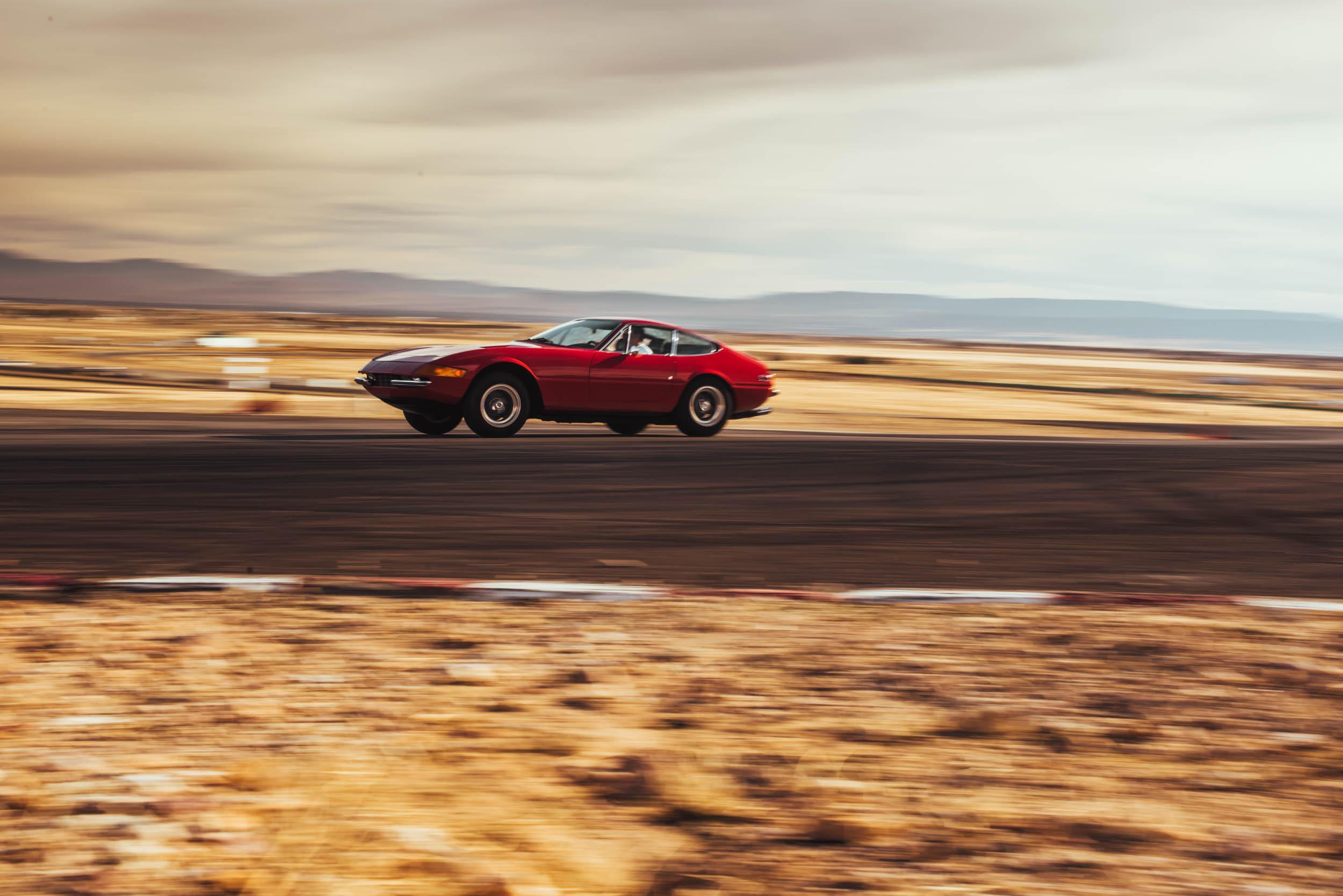 Ferrari Daytona driving