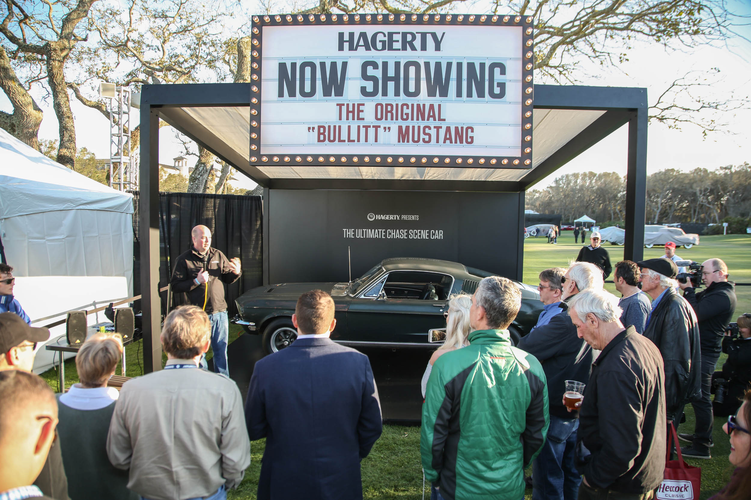 The Bullitt Mustang was on display in Hagerty's booth, where show-goers could get up close and snap a photo with an icon of American cultural history.