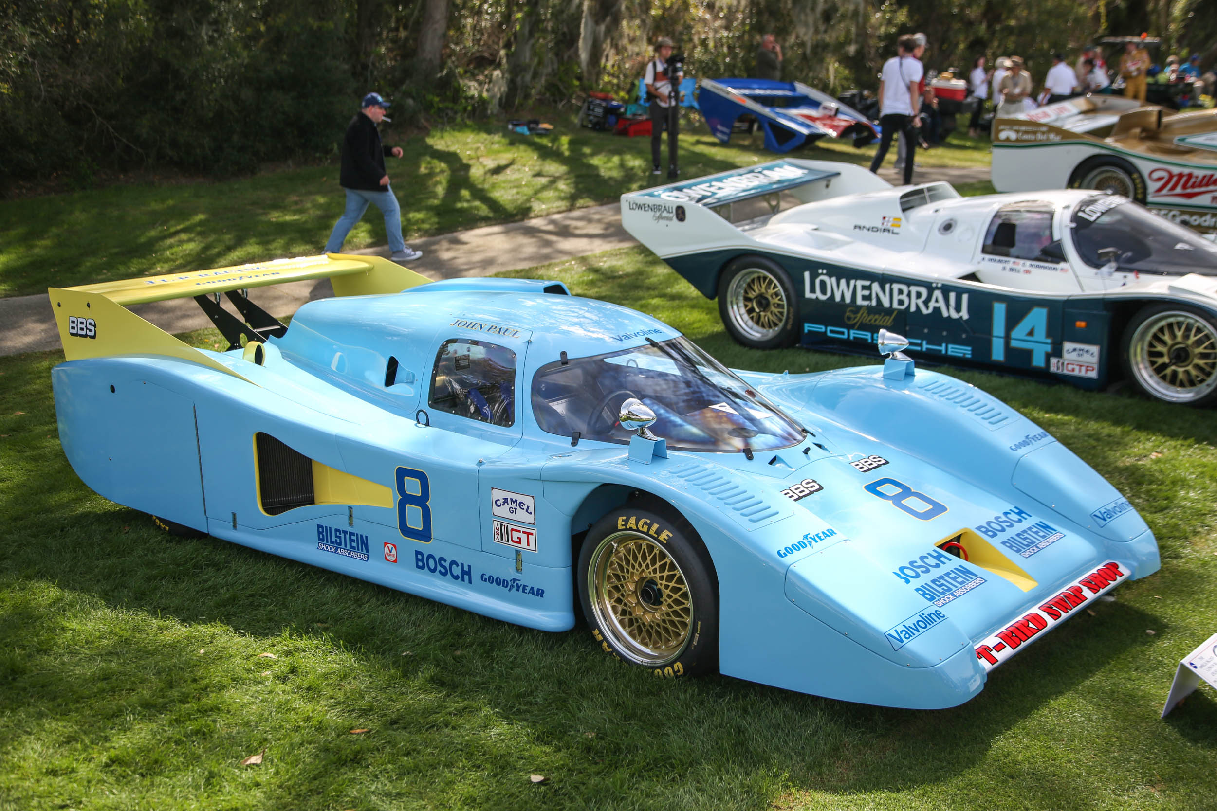 race cars at the 2018 Amelia Island concours