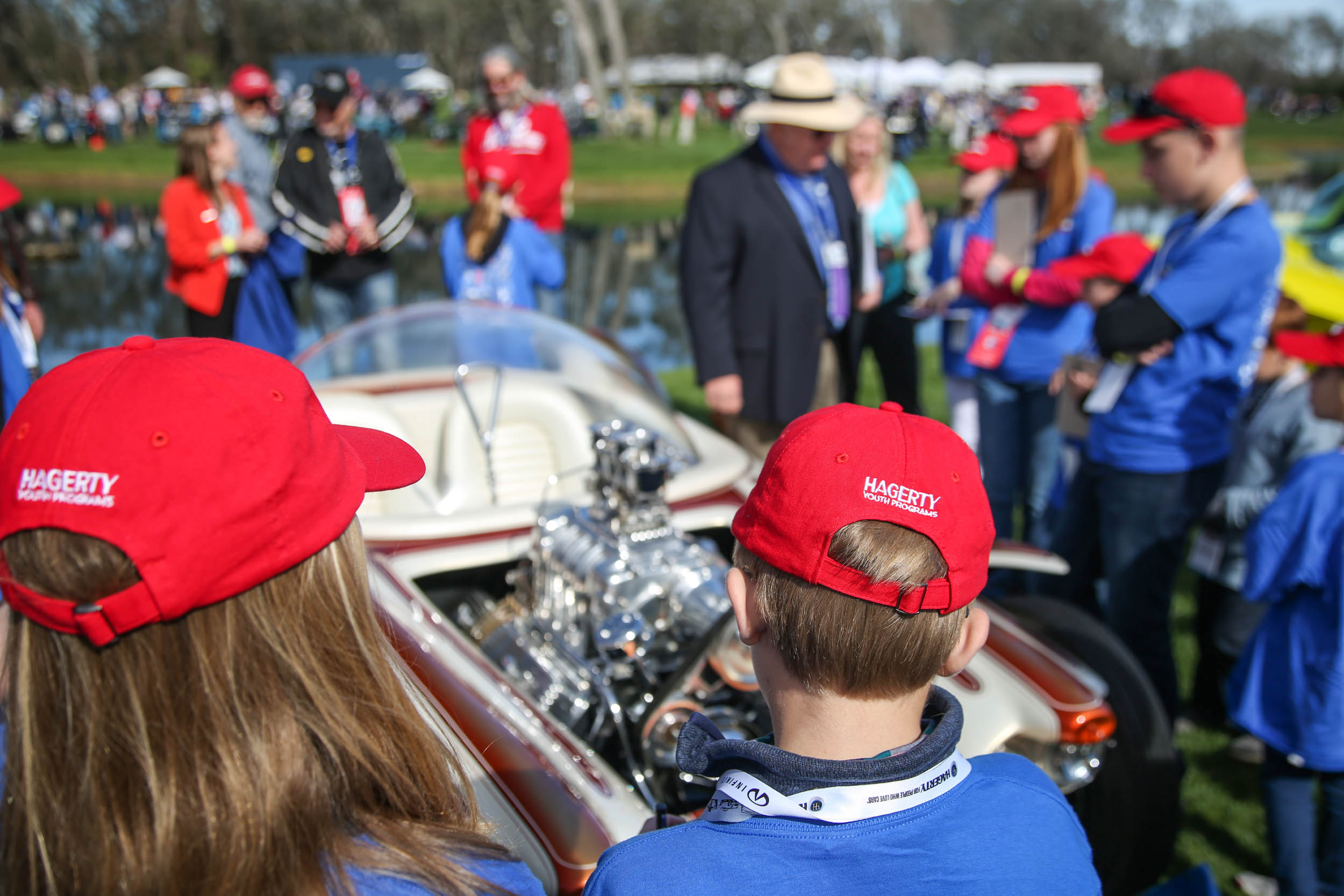 Hagerty's Youth Judges try to wrap their young minds around Ed Roth's Beatnik Bandit.