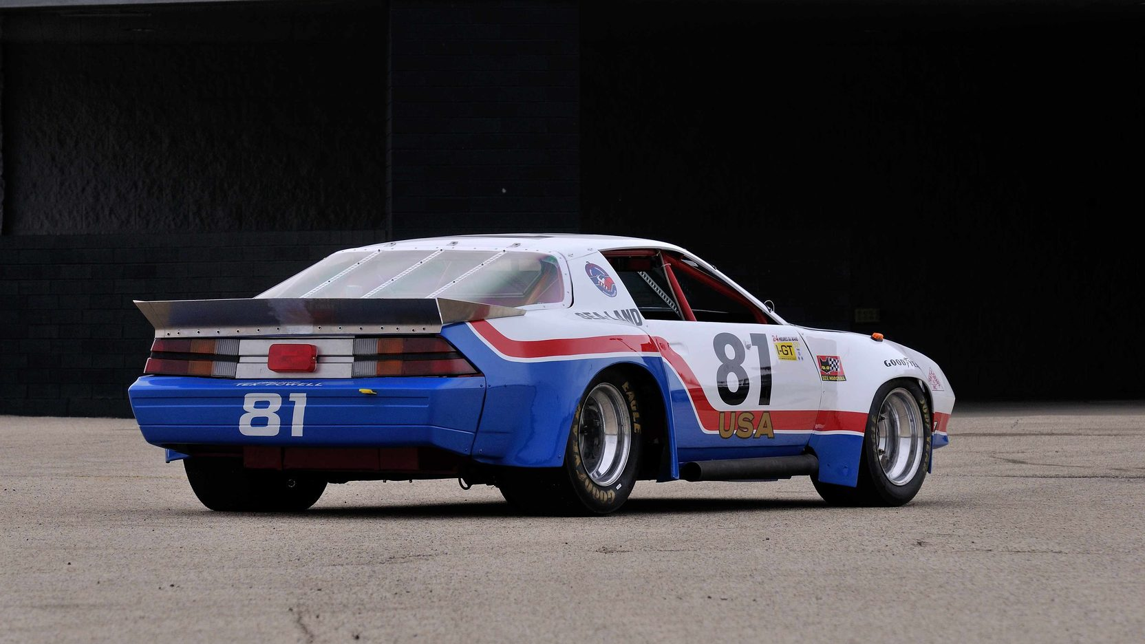 1982 Chevrolet Camaro Le Mans Race Car rear 3/4