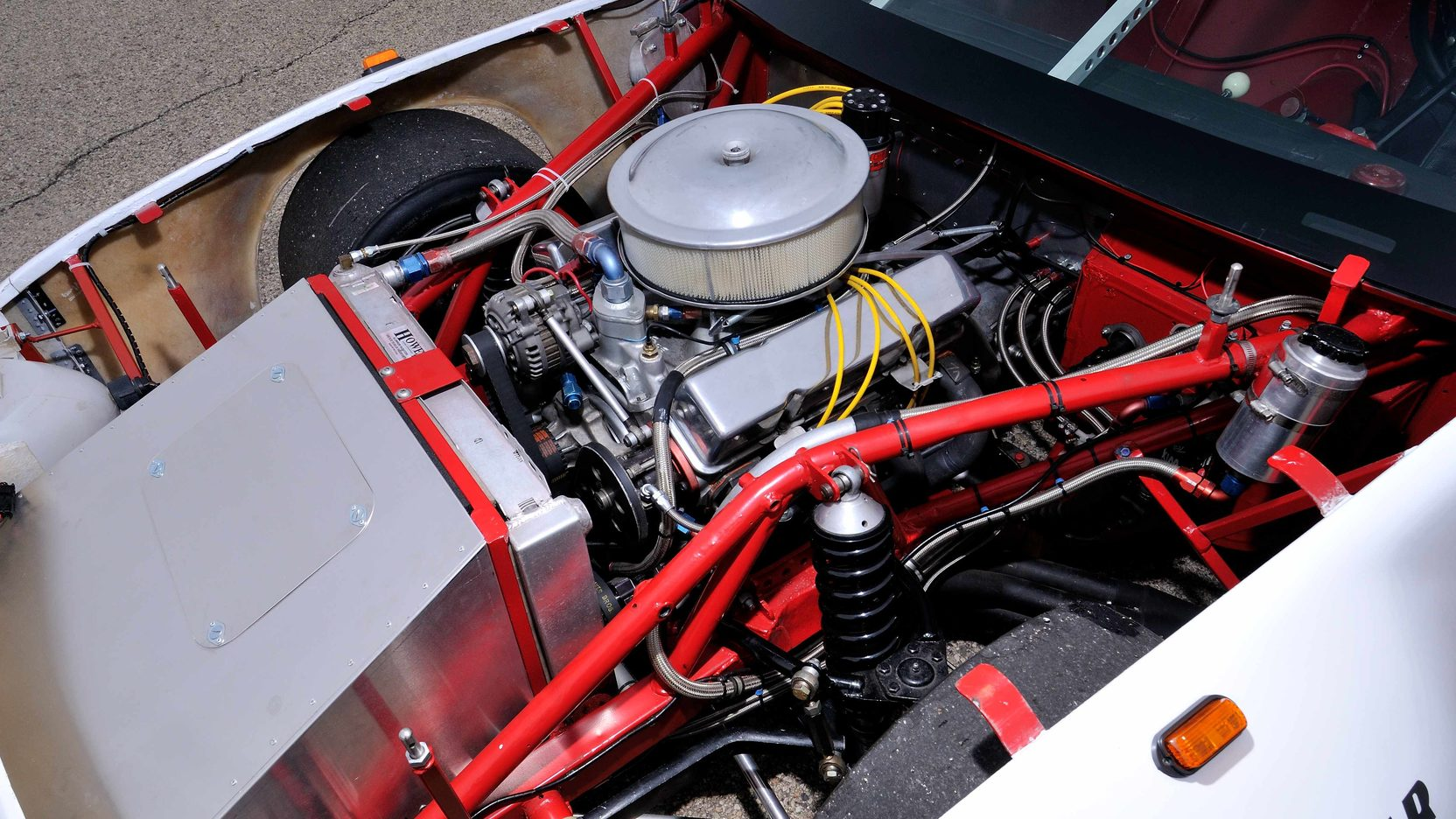 1982 Chevrolet Camaro Le Mans Race Car engine