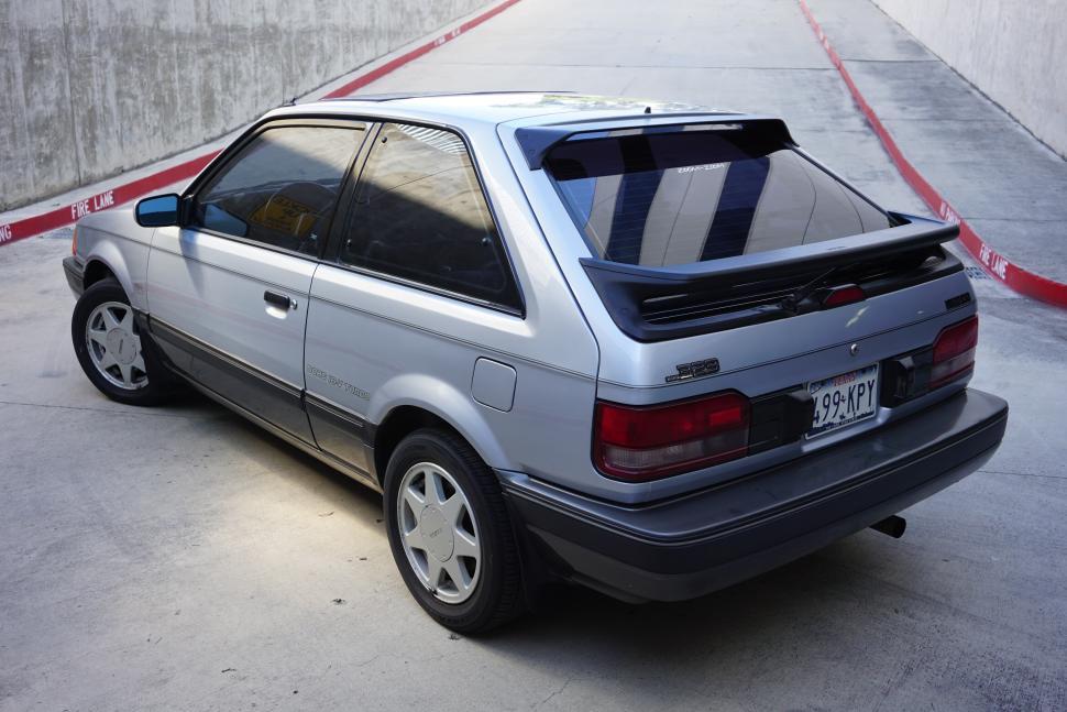 Silver Mazda 323 GTX
