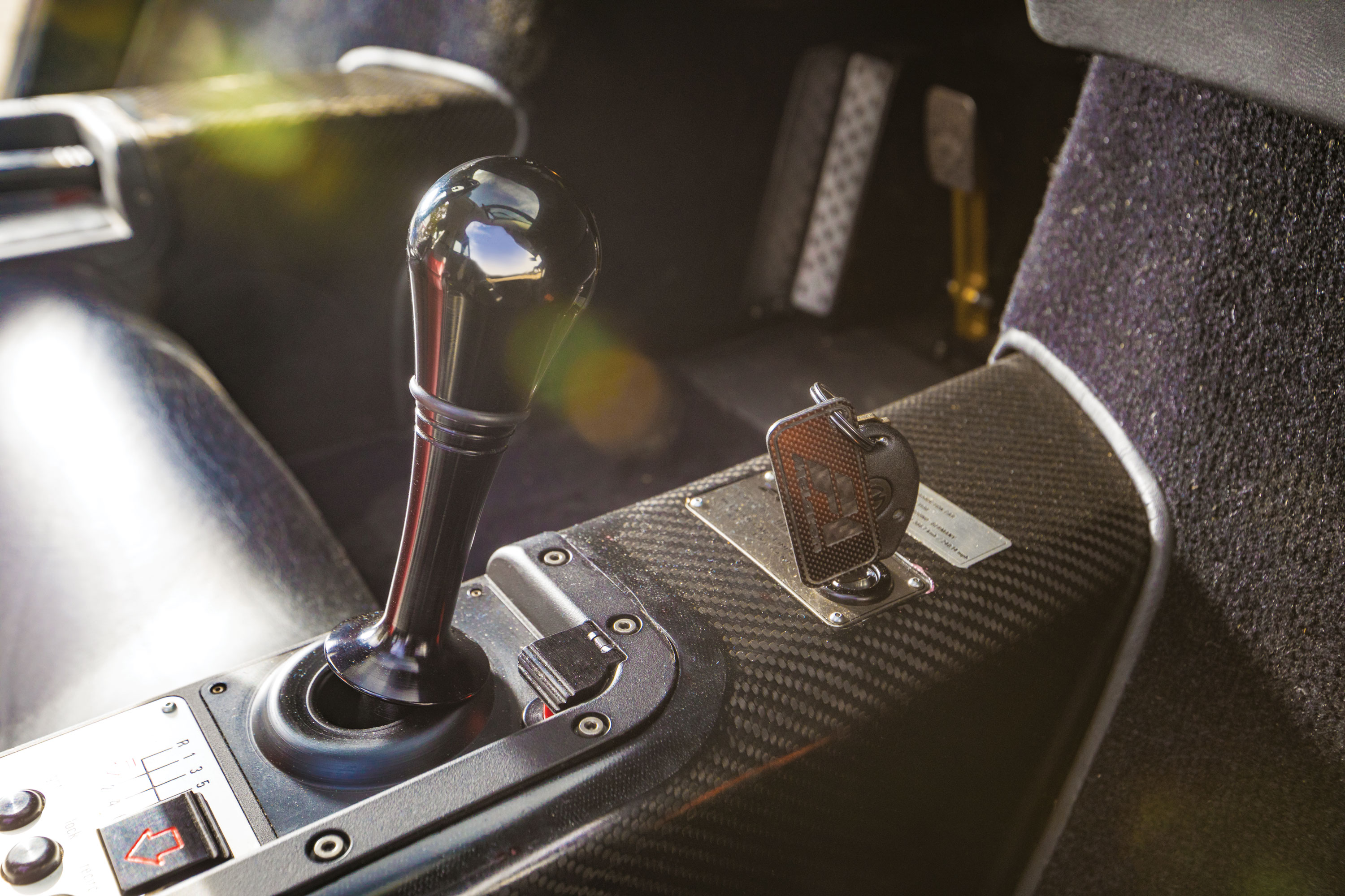 Key and shifter of a McLaren F1