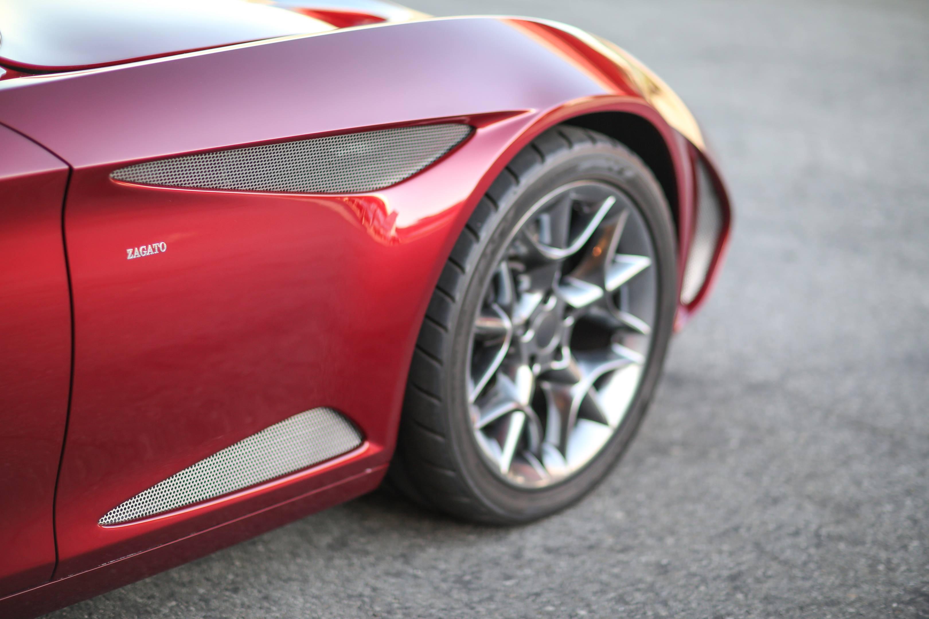 Zagato Perana Z-One front quarter panel detail