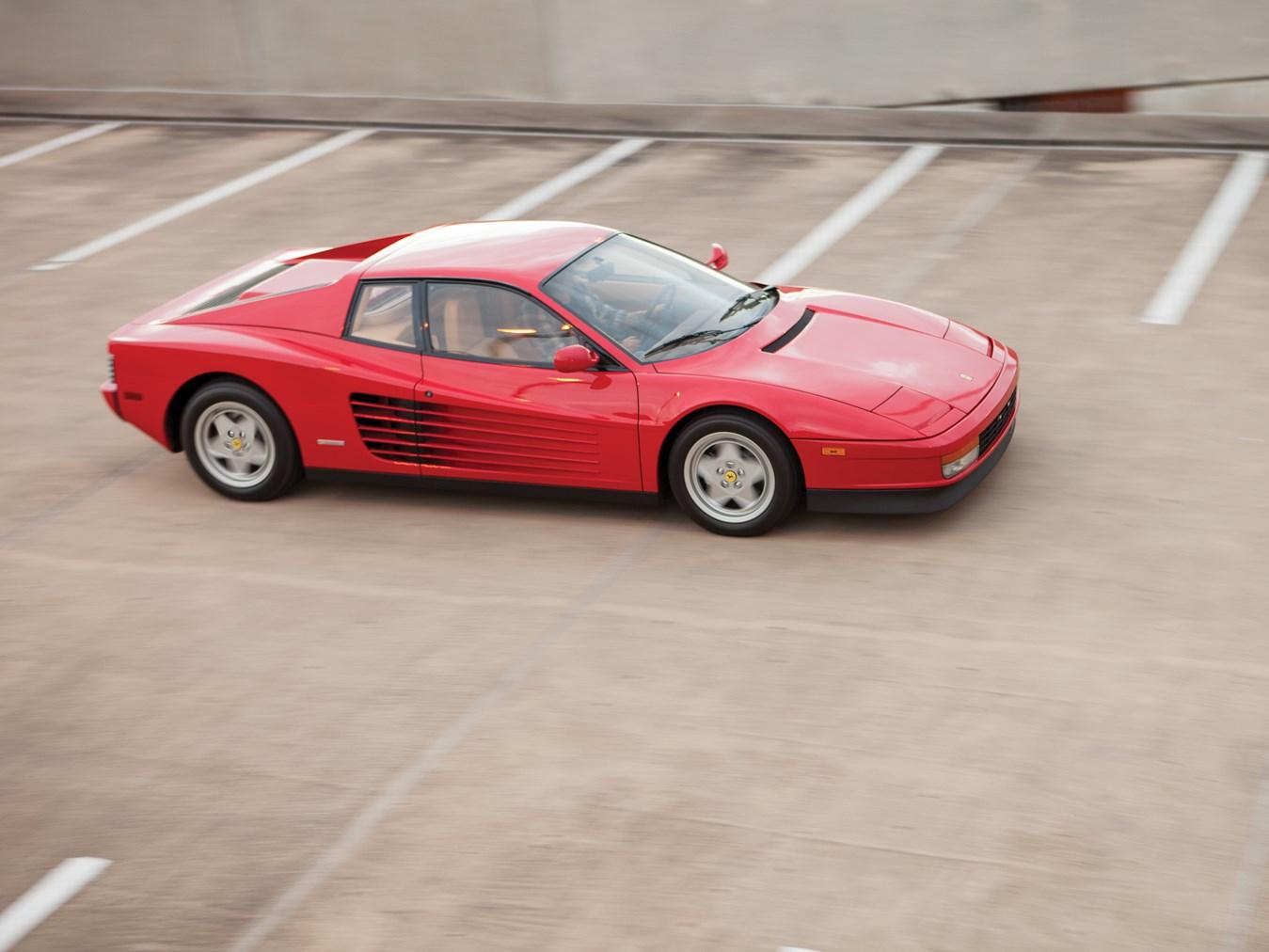 red 1988½ Ferrari Testarossa high front 3/4