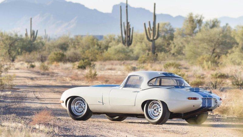 1963 Jaguar E-Type Lightweight rear 3/4