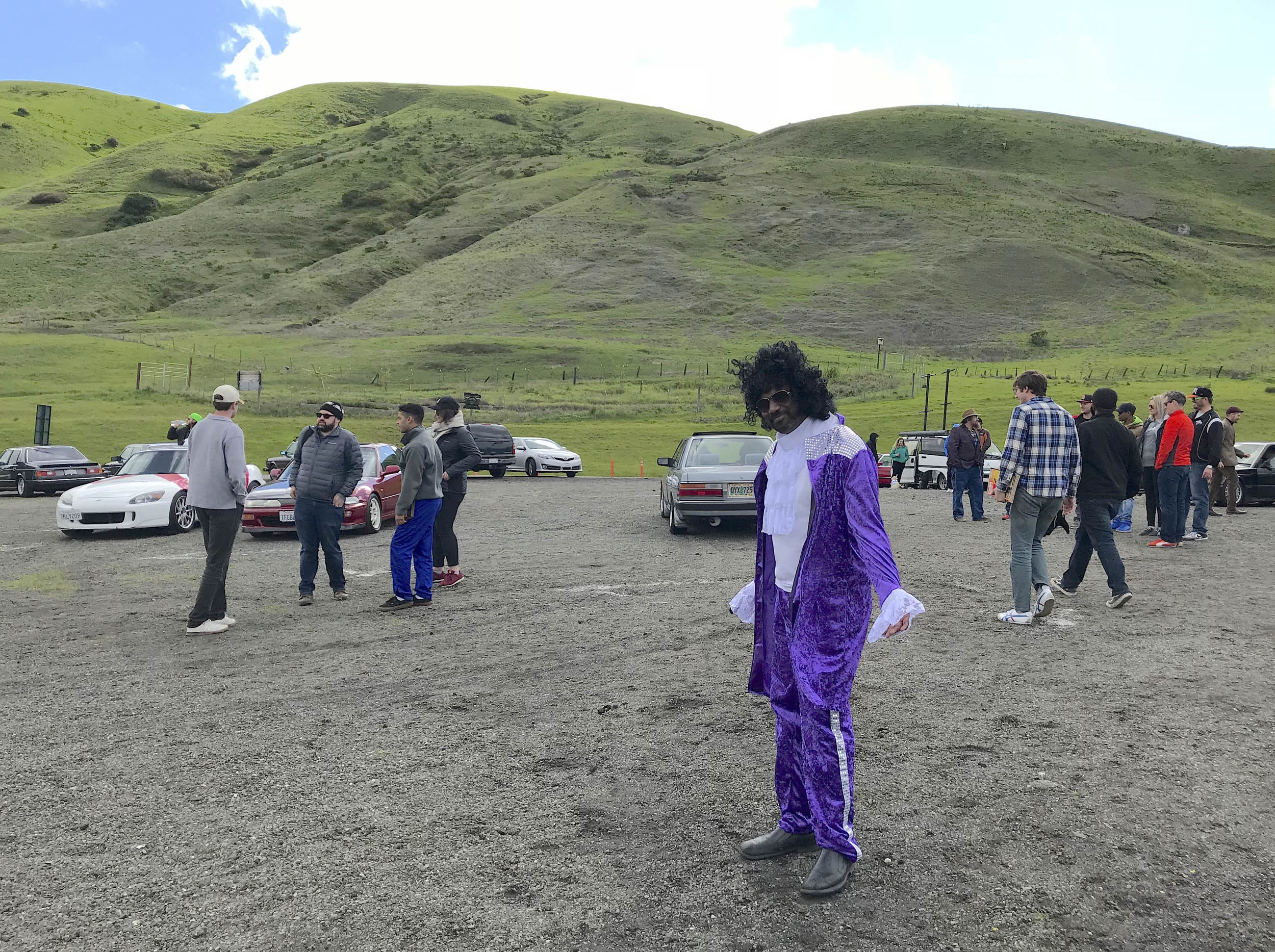 Radwood event goer in costume
