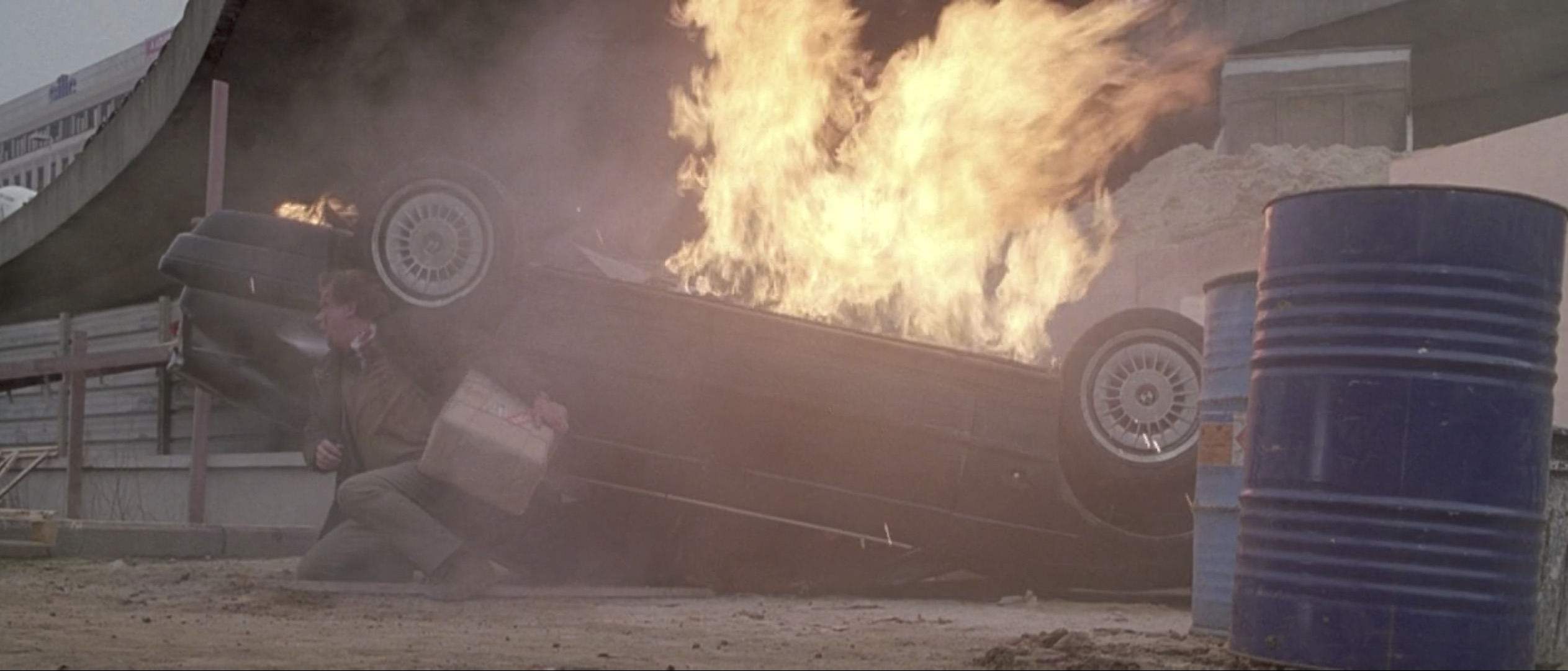 Ronin car on fire