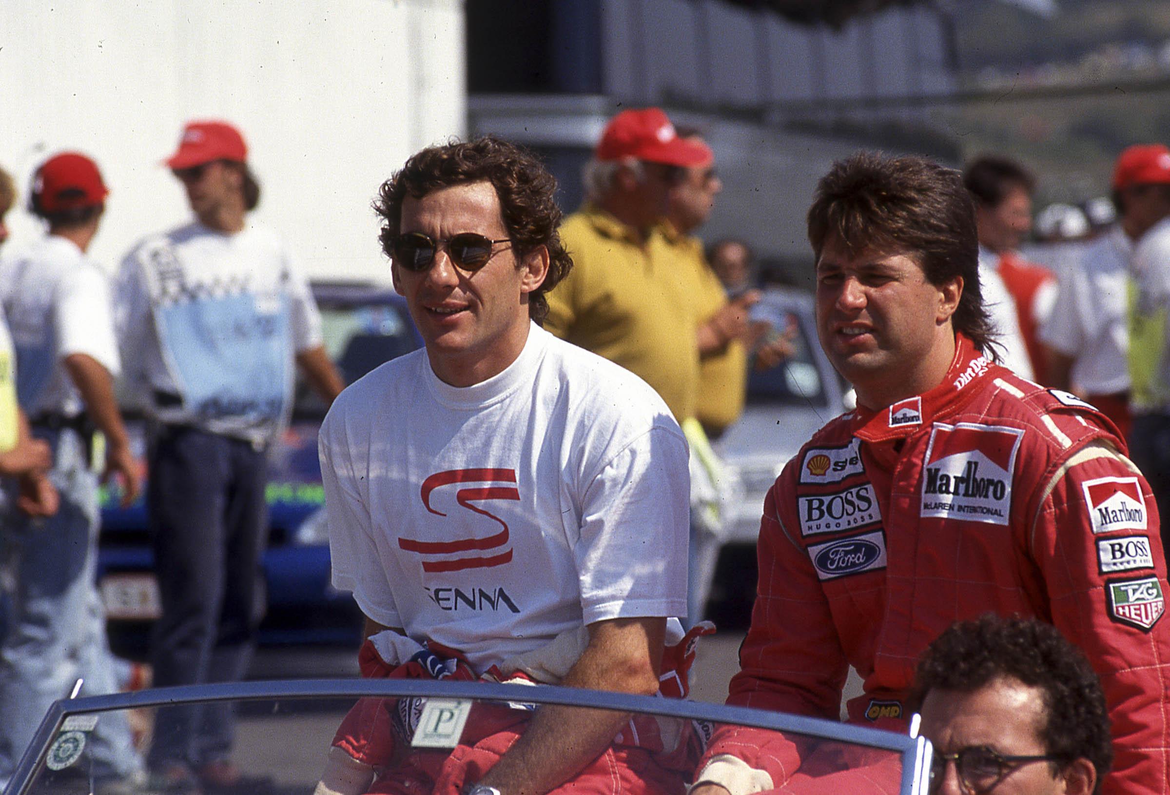 Senna at the track