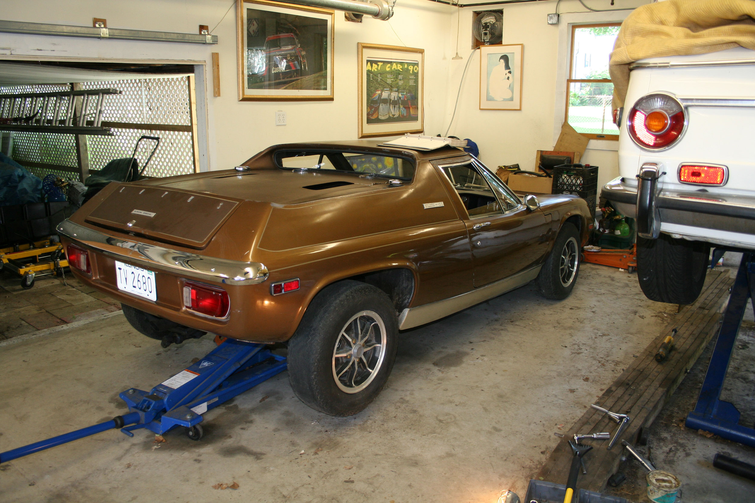 My 1974 Lotus Europa TCS nearly five years ago before I began ripping the drivetrain out.