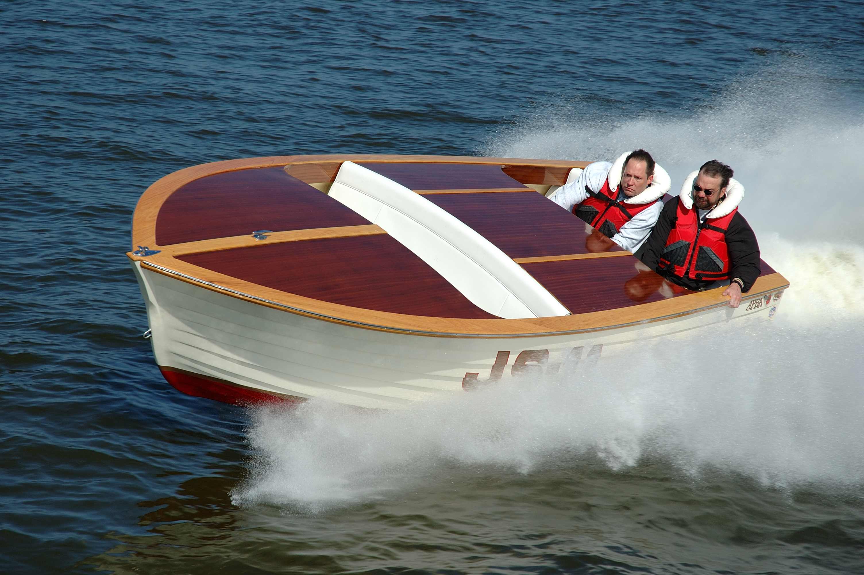 Jim Hassfeld's 1973 17-foot Gillman Jersey Speed Skiff