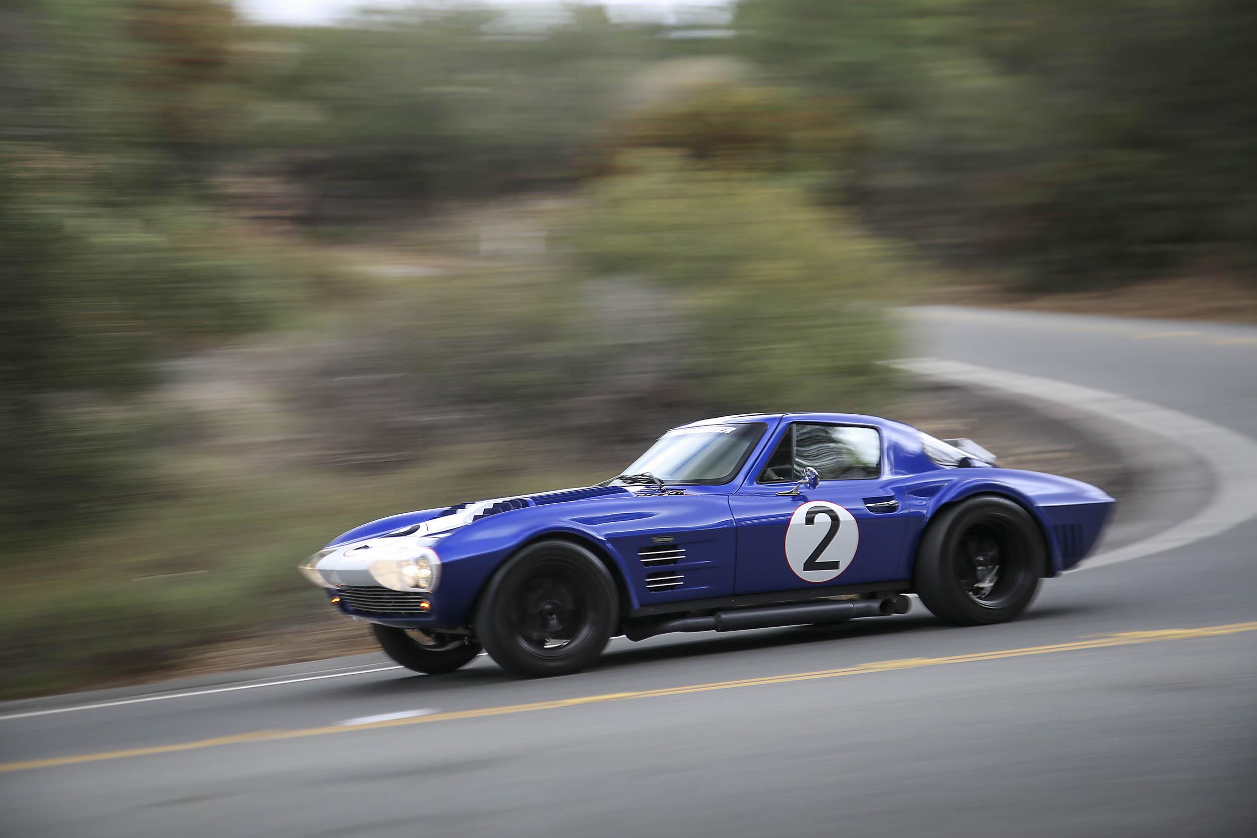 Superformance Corvette Grand Sport profile while driving