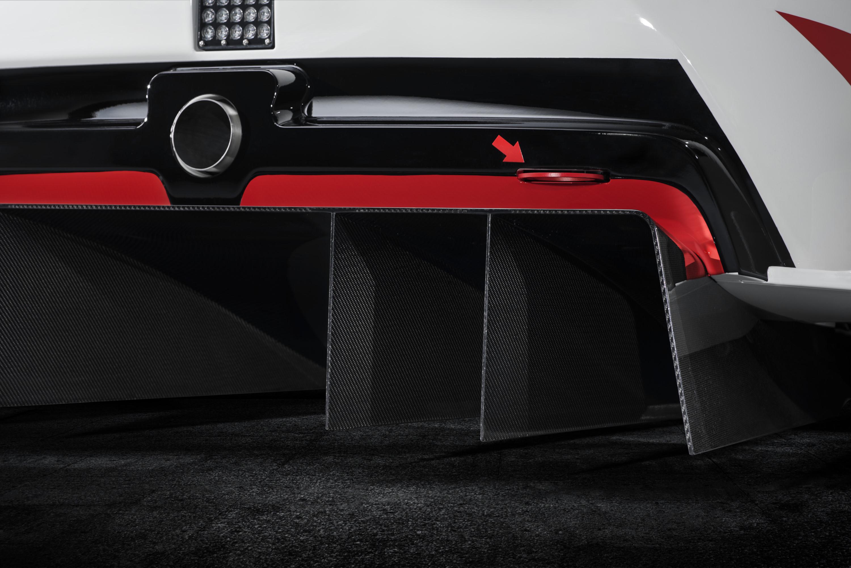 Toyota Supra racing concept rear diffuser detail