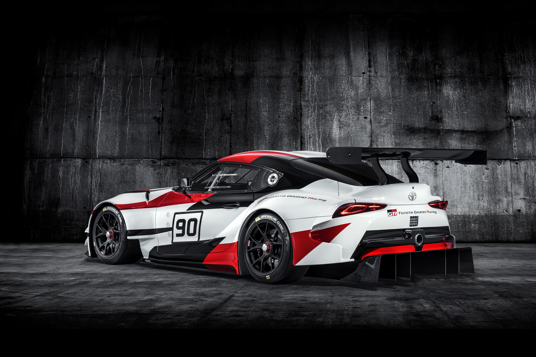 Toyota Supra racing concept rear 3/4