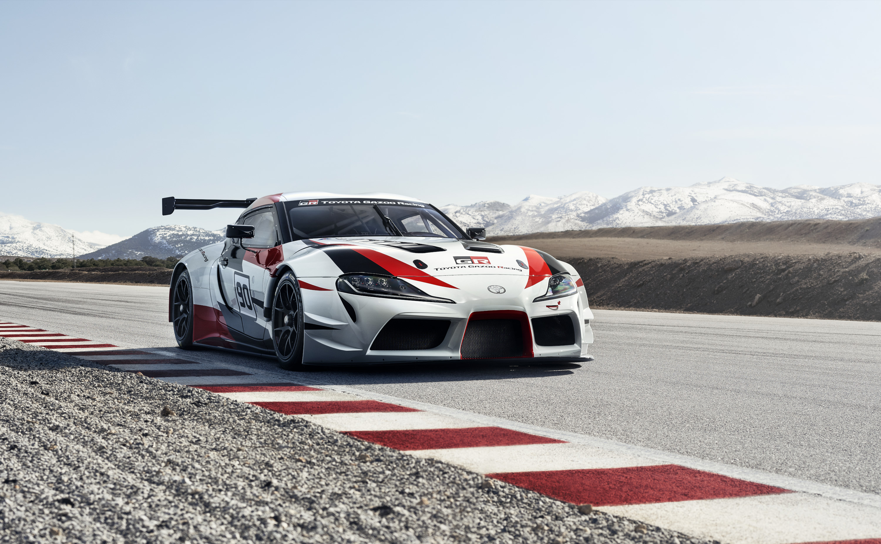 Toyota Supra racing concept on the track