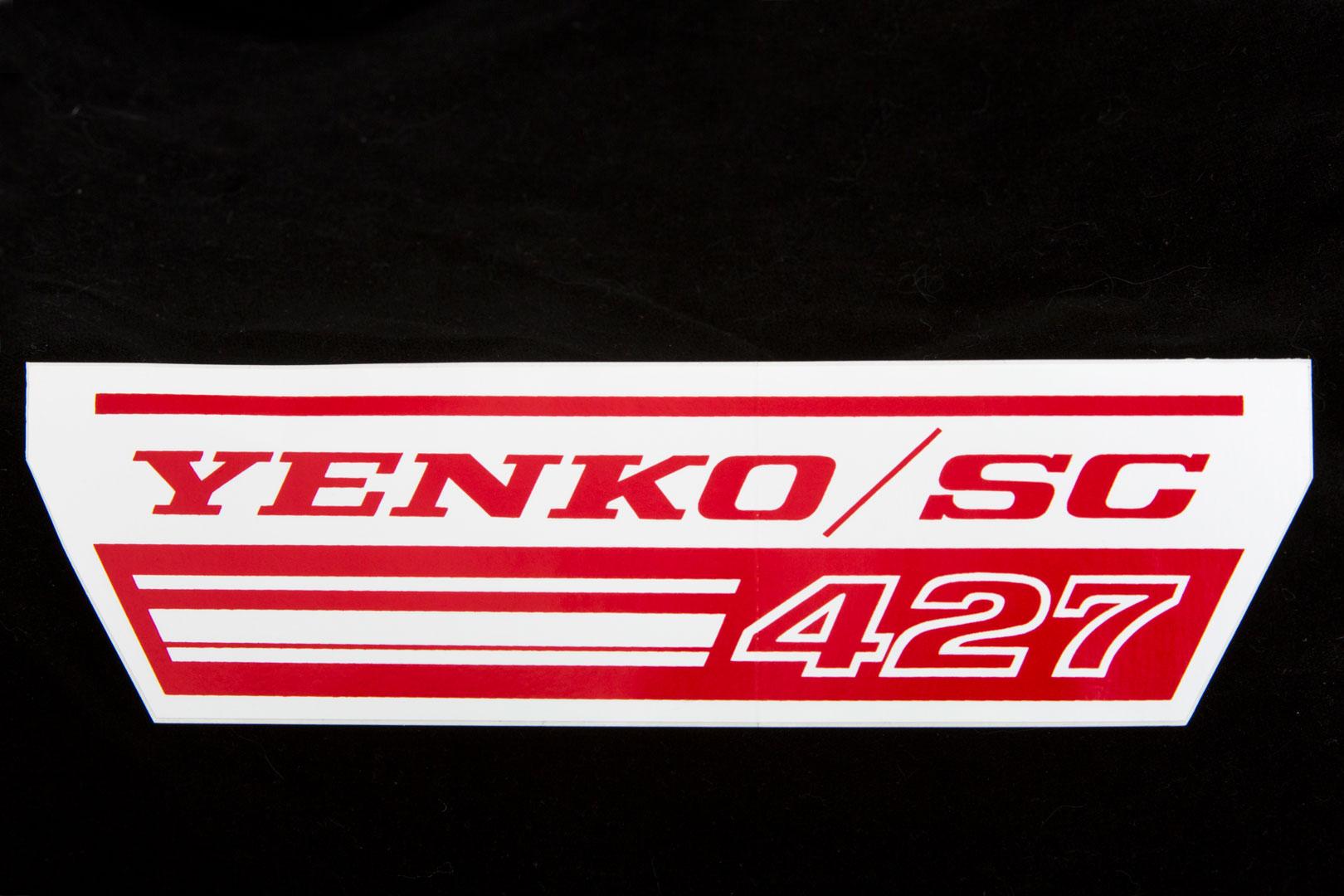 Yenko 427 badge