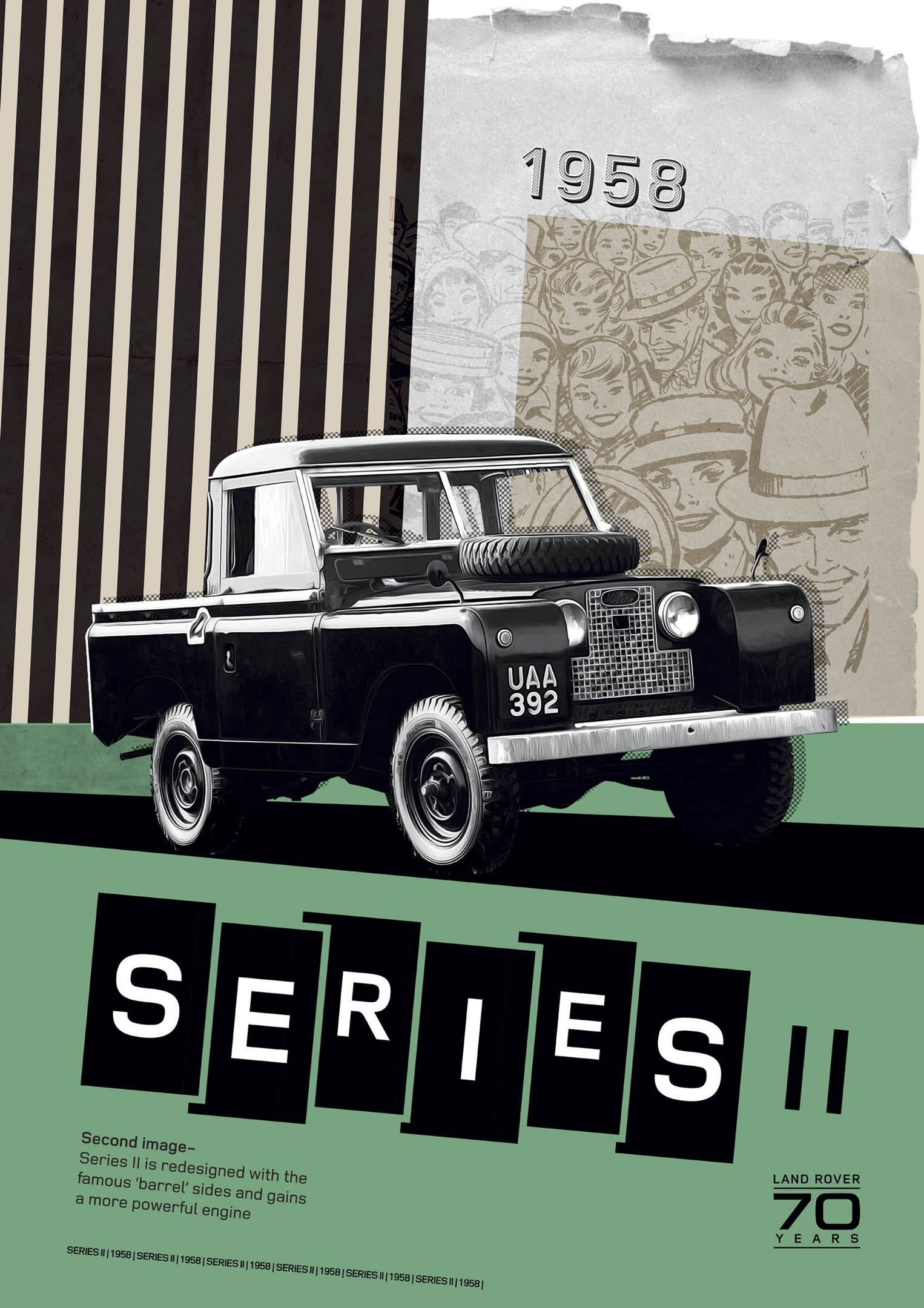 Land Rover Series II 1958 poster