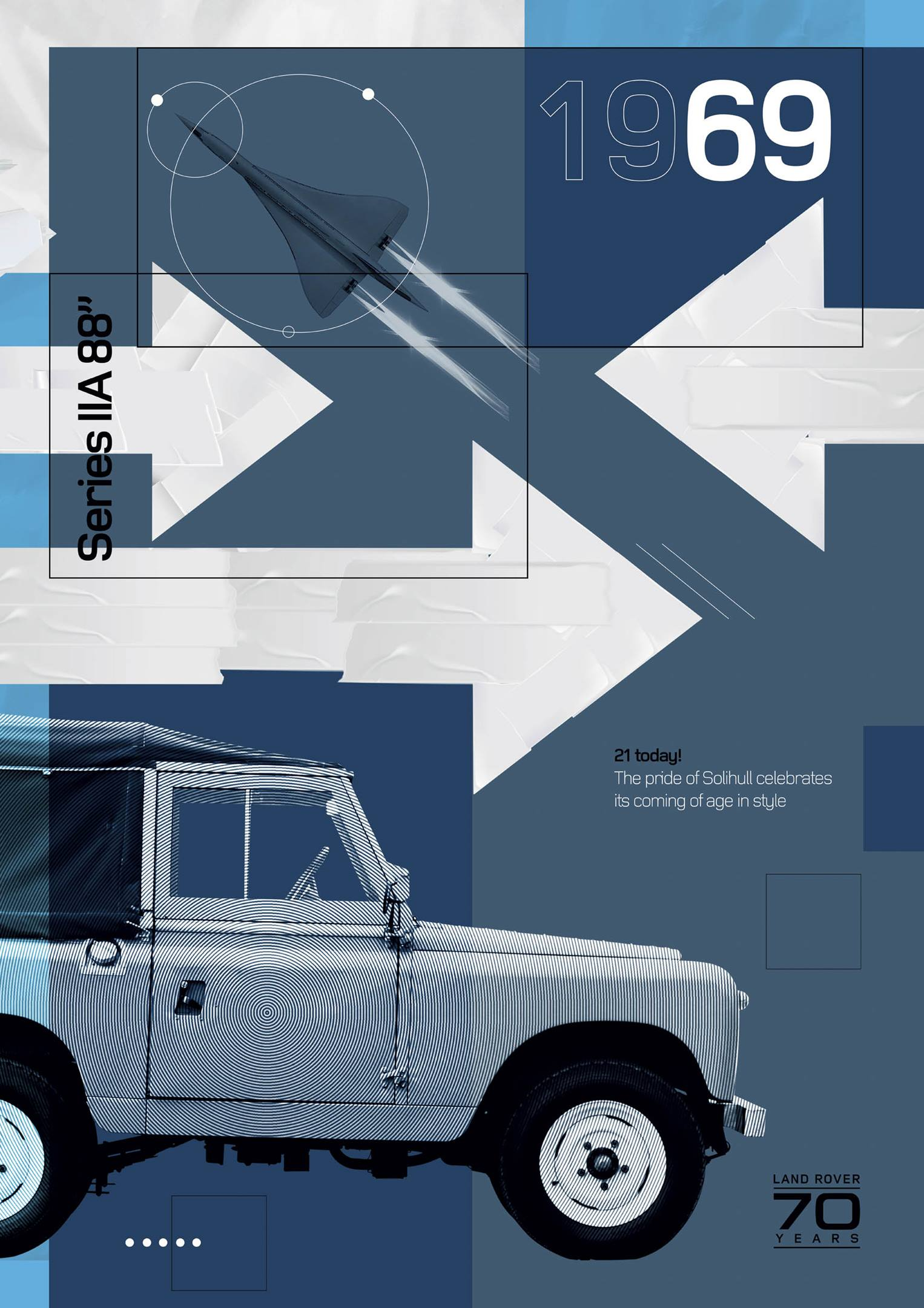 """Land Rover Series IIA 88"""" 1969 poster"""
