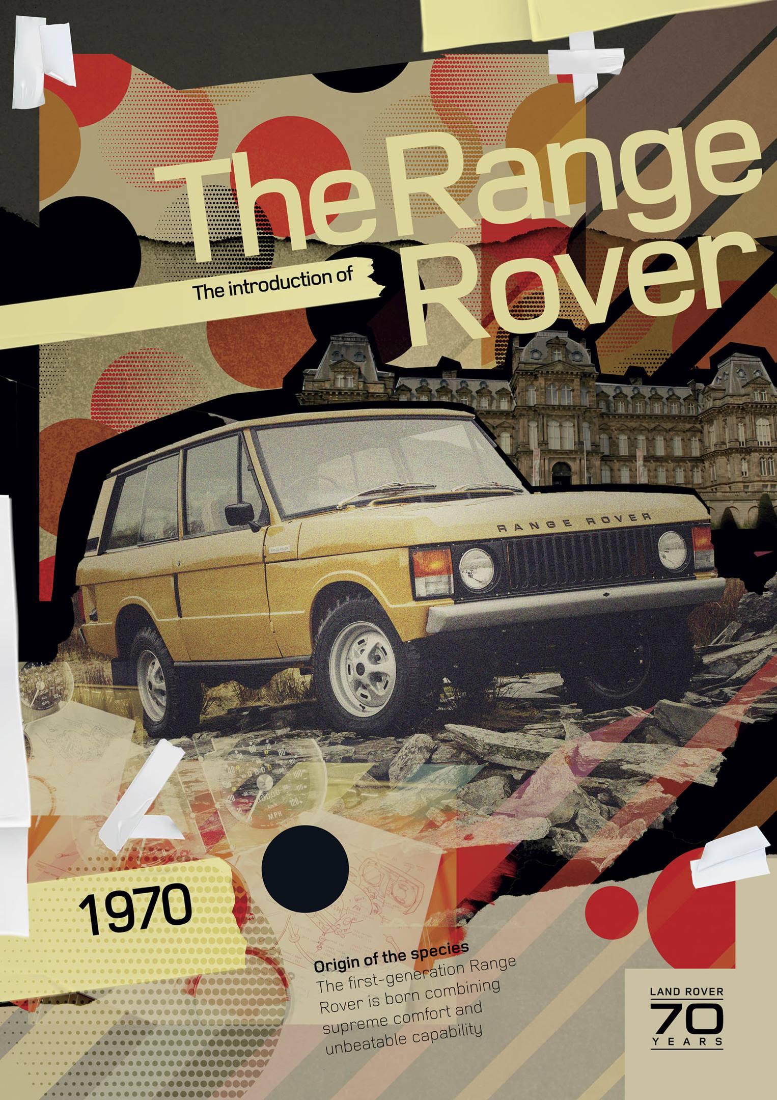 1970 Range Rover poster