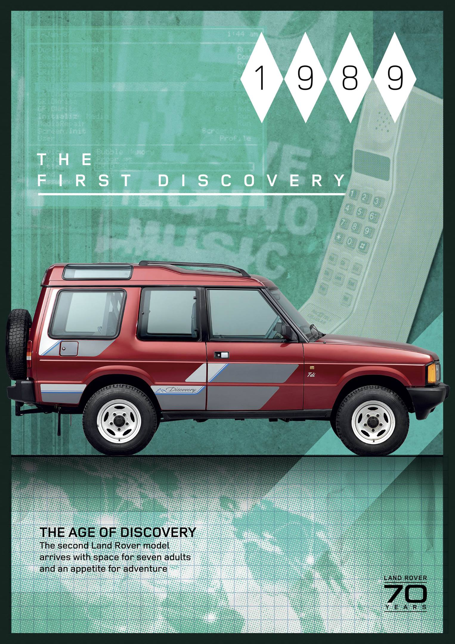 1989 Land Rover Discovery poster