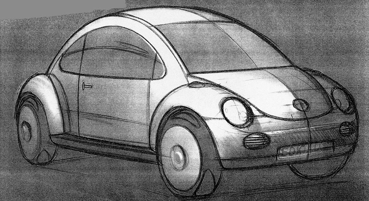 Volkswagen Concept 1 concept drawing