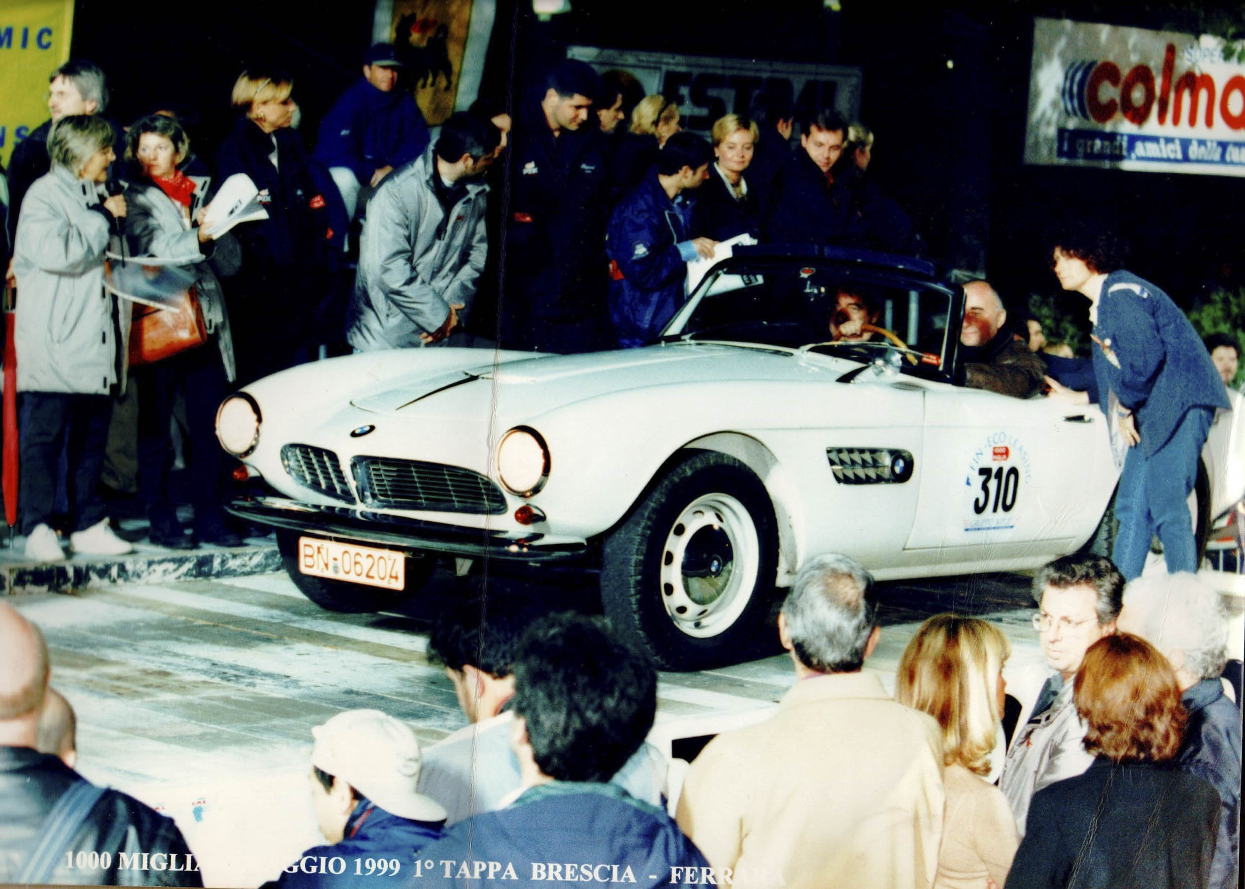 King Constantine II of Greece in his 1959 BMW 507 Roadster