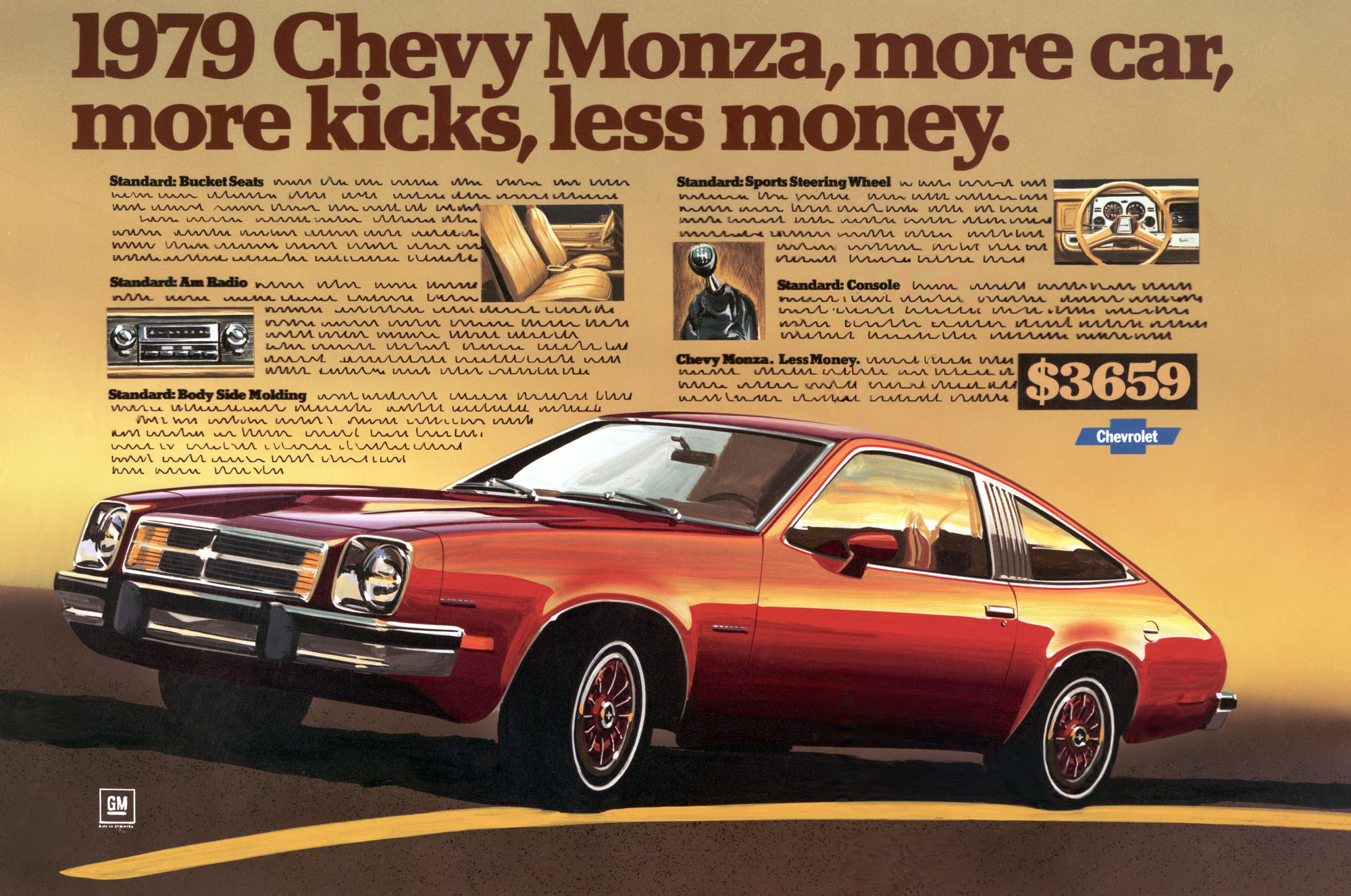 Chevrolet Monza print advertisement