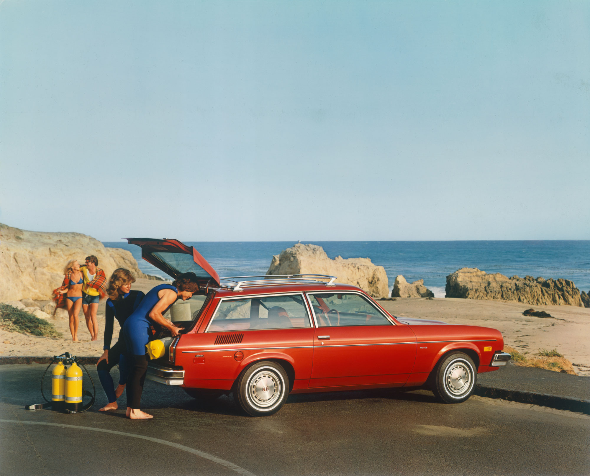 Chevrolet Monza at the beach