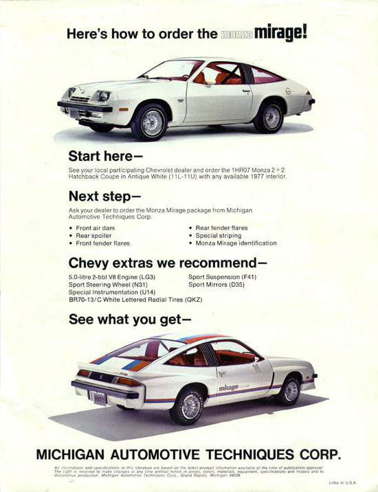 Chevy Monza Ad