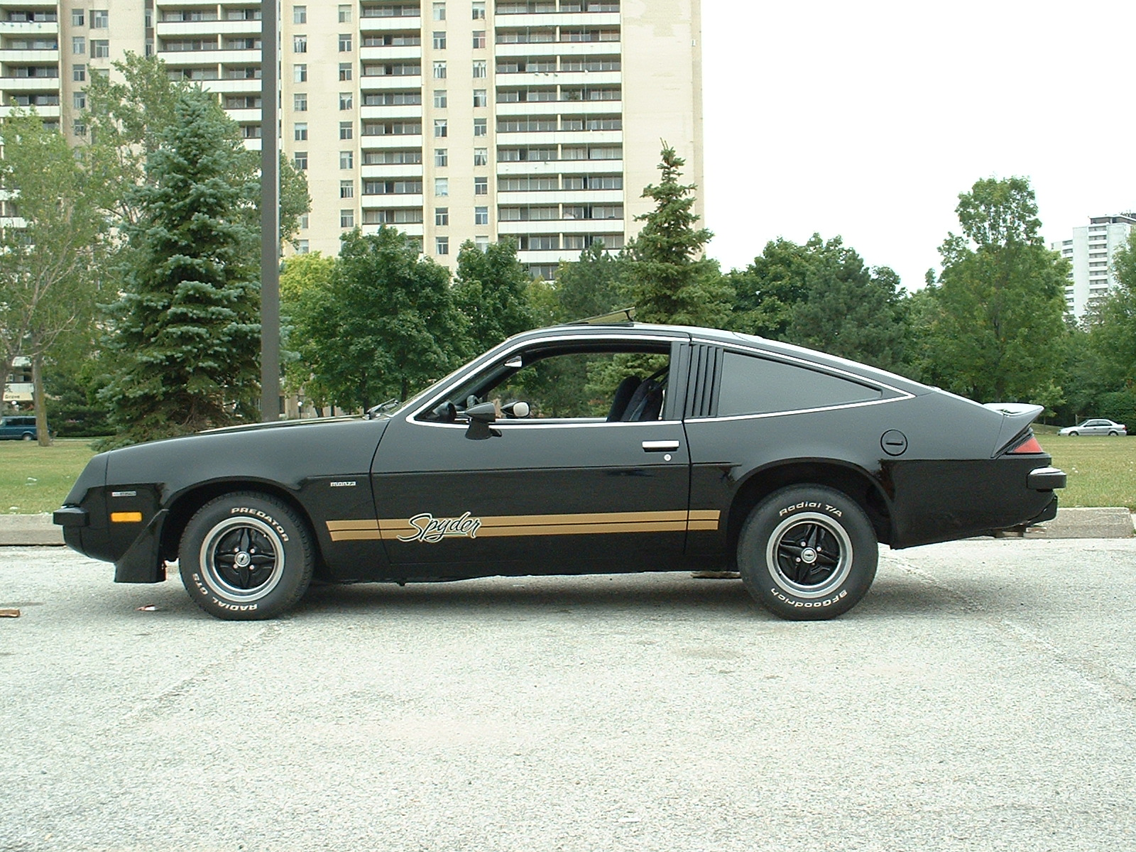 Chevy Monza profile was inspired by an early 1970s Ferrari. McCready's car has the Spyder package.