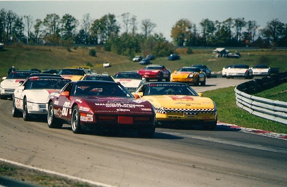 Doc Bundy (#80) was a successful Porsche racer who competed in the Corvette Challenge for Malcolm Konner Chevrolet.