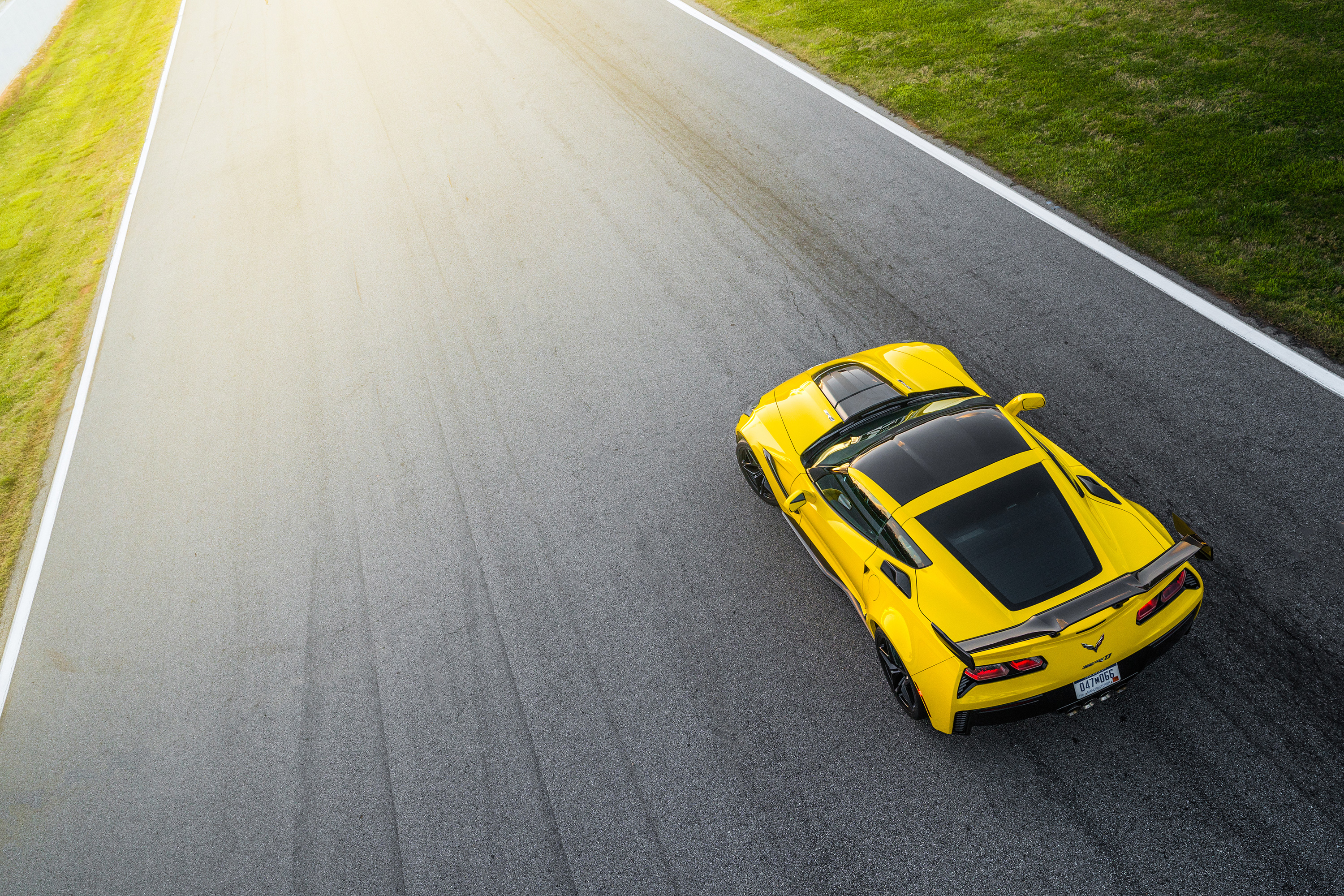 2019 chevrolet corvette zr1 track yellow sunshine