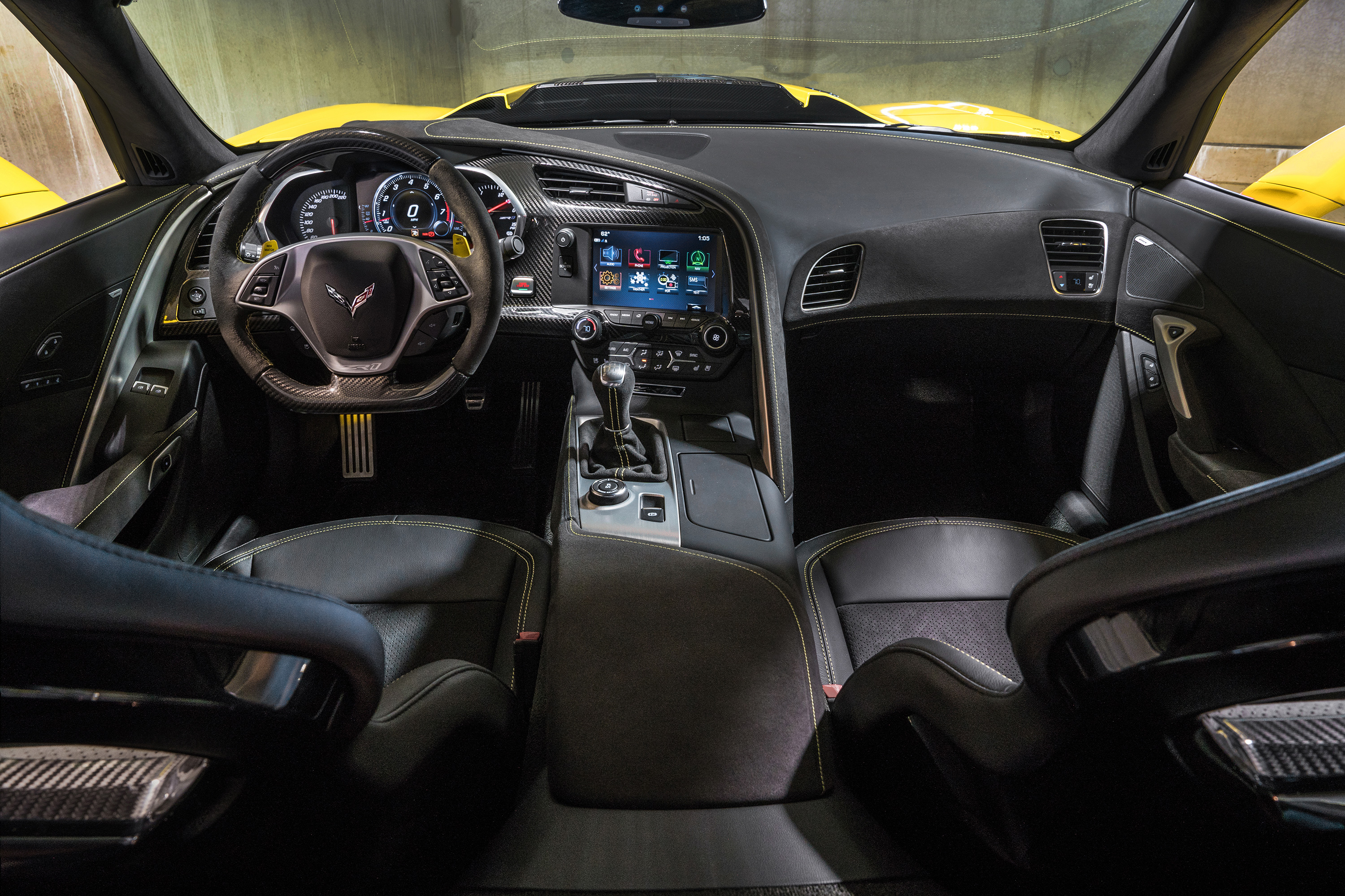 2019 chevrolet corvette zr1 interior dark