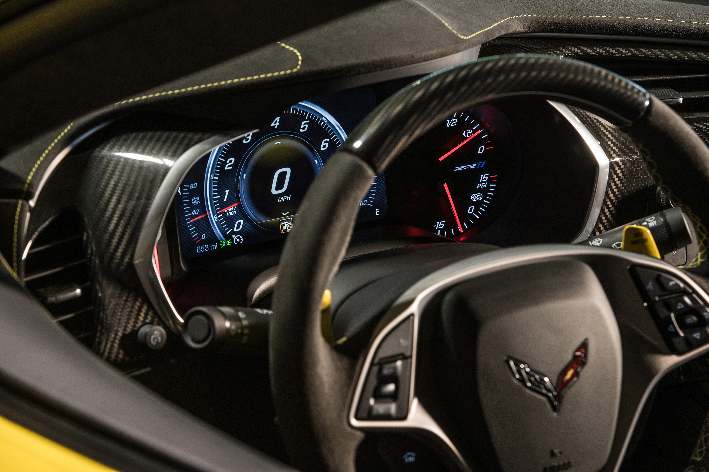 2019 chevrolet corvette zr1 steering wheel dashboard