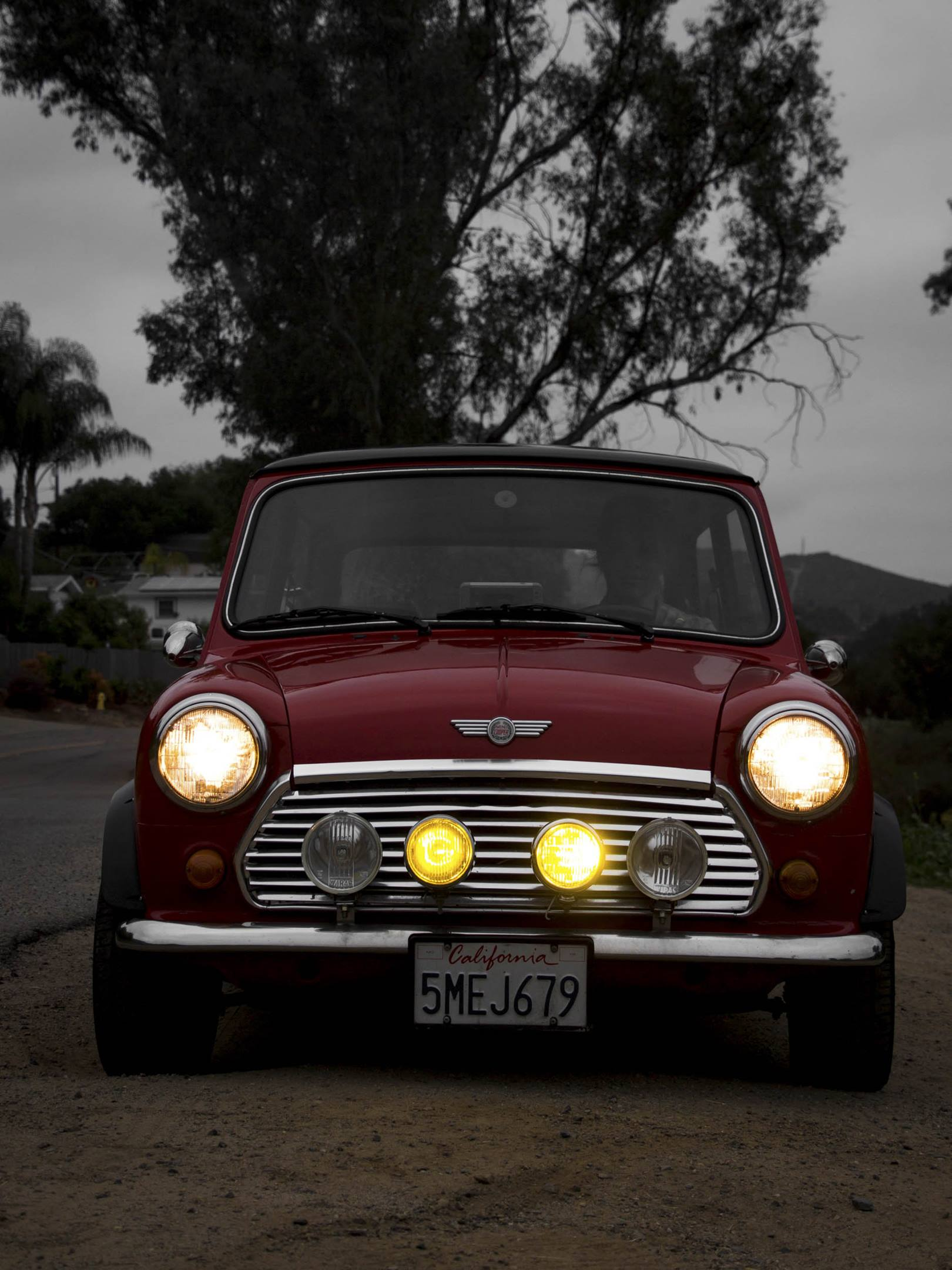 1973 Mini Cooper lights on