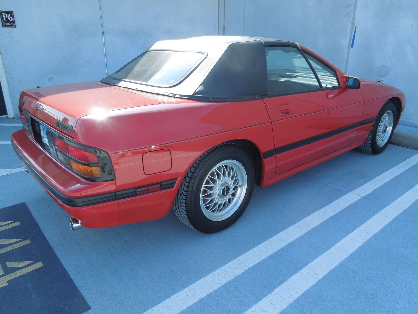 1988 Mazda RX-7 convertible rear 3/4