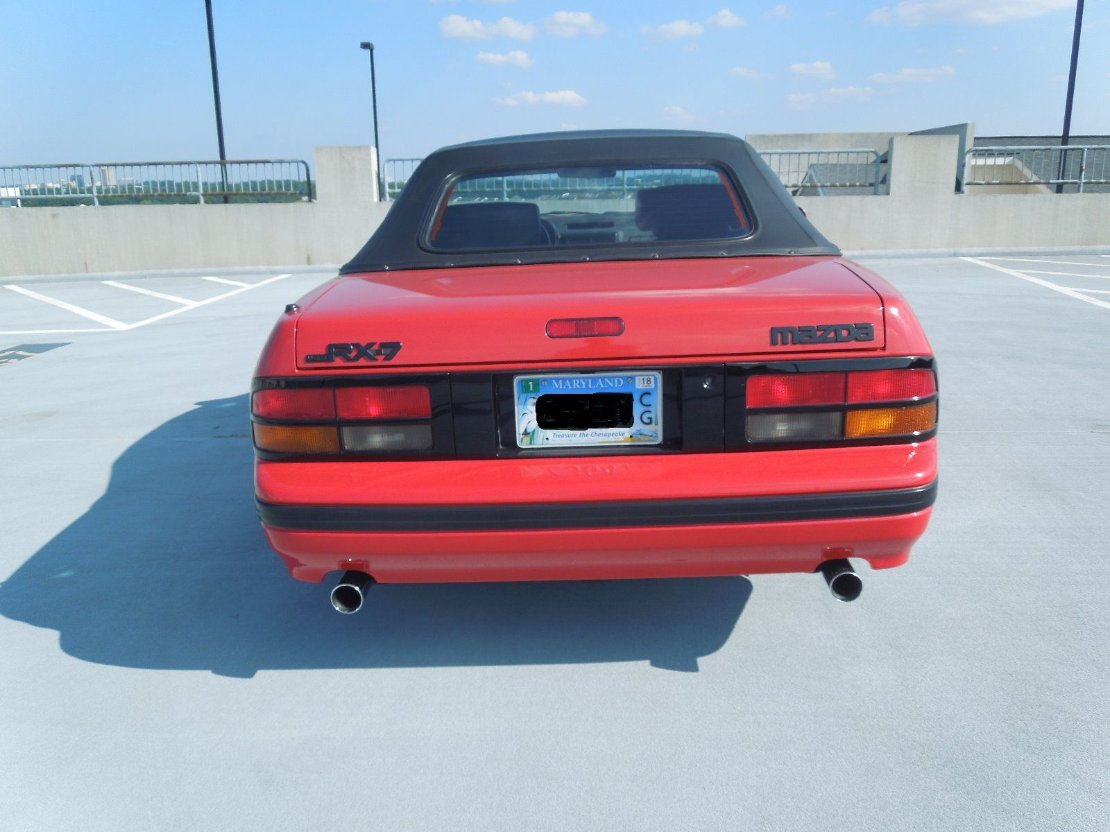 1988 Mazda RX-7 convertible rear