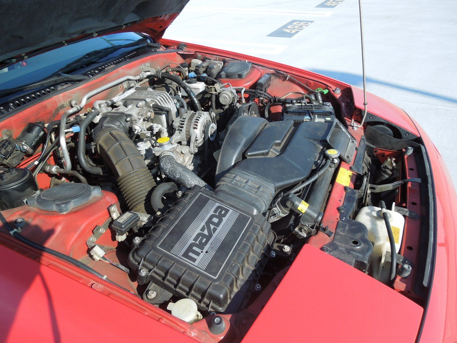 1988 Mazda RX-7 convertible engine
