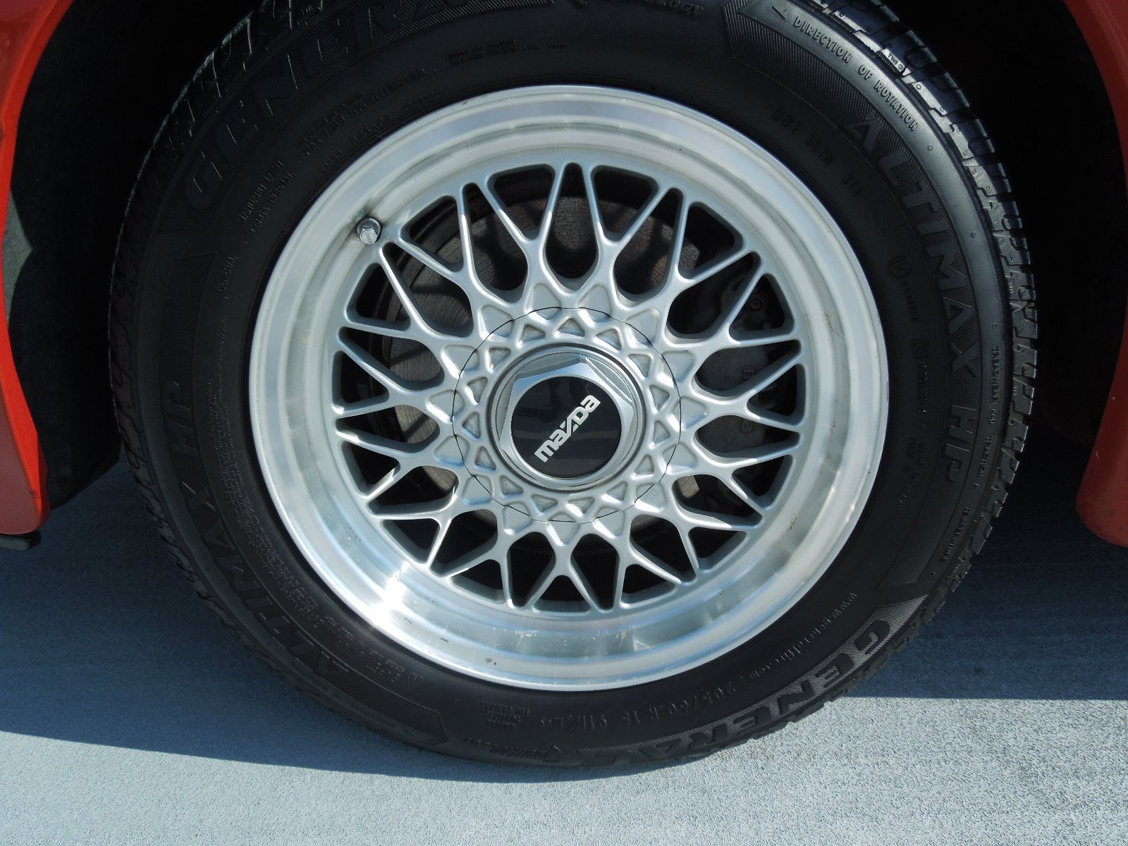 1988 Mazda RX-7 convertible wheel detail
