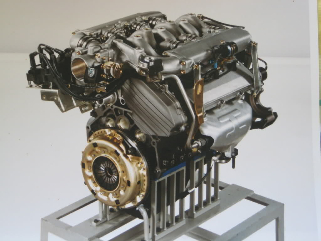 SHO engine on a stand
