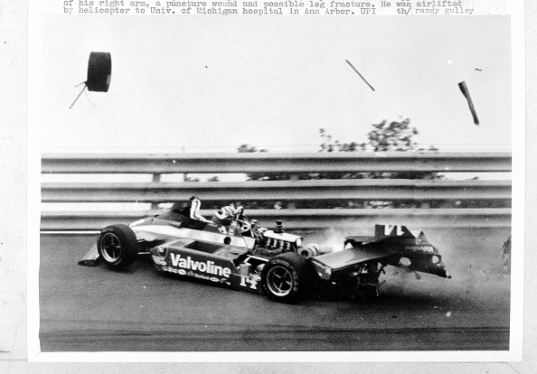 At the 1981 Michigan 500, Foyt hit the outside guardrail and had to be cut from his car. Suffering compound fractures of his right arm, he required surgery at the University of Michigan Medical Center.