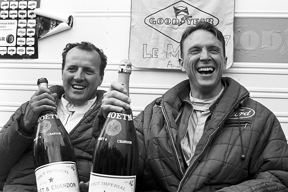 Foyt shared the GT40 with Dan Gurney. The duo gave Ford its second of four straight wins at the French race.