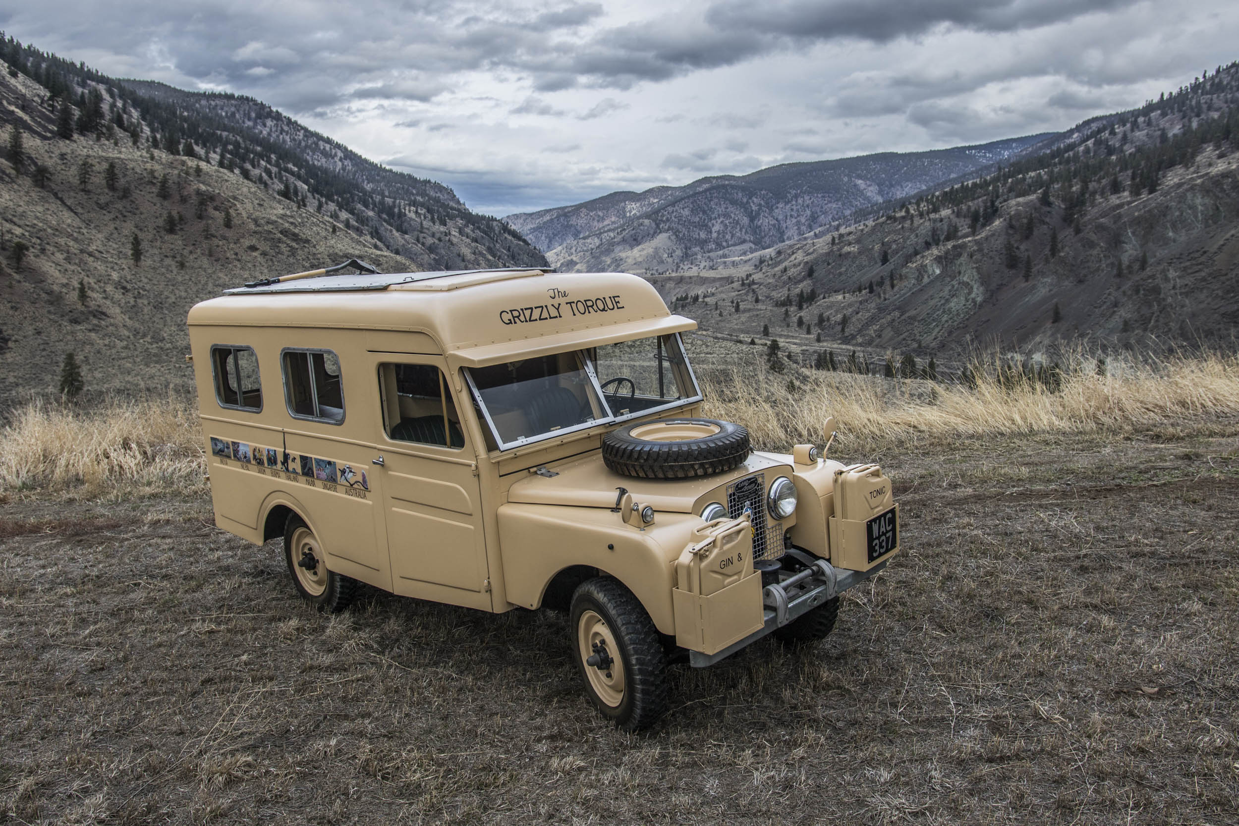 1957 Land Rover the Grizzly Torque in the mountains