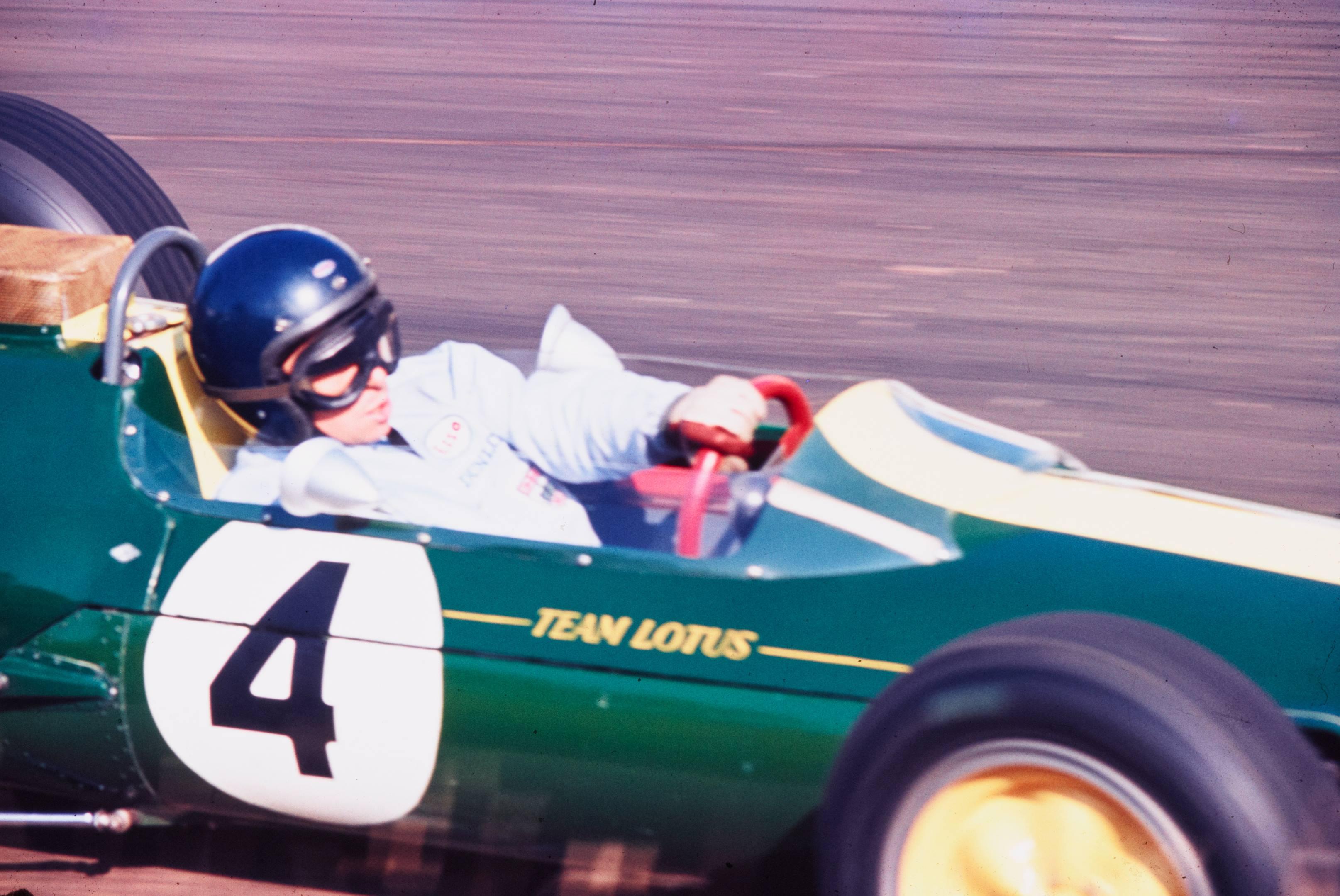 jim clark team lotus number 4 green corner