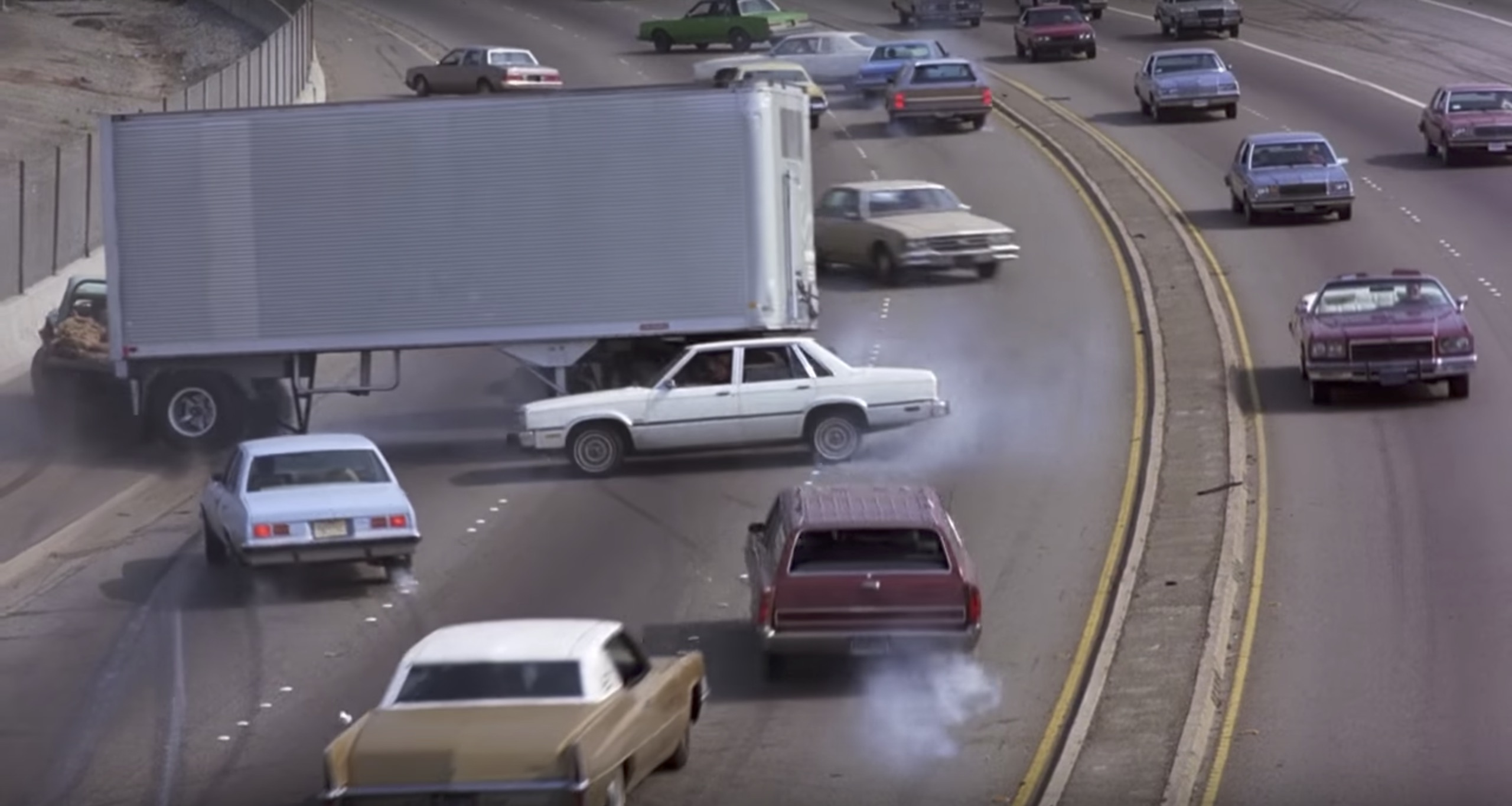 To Live and Die in L.A. highway car crash