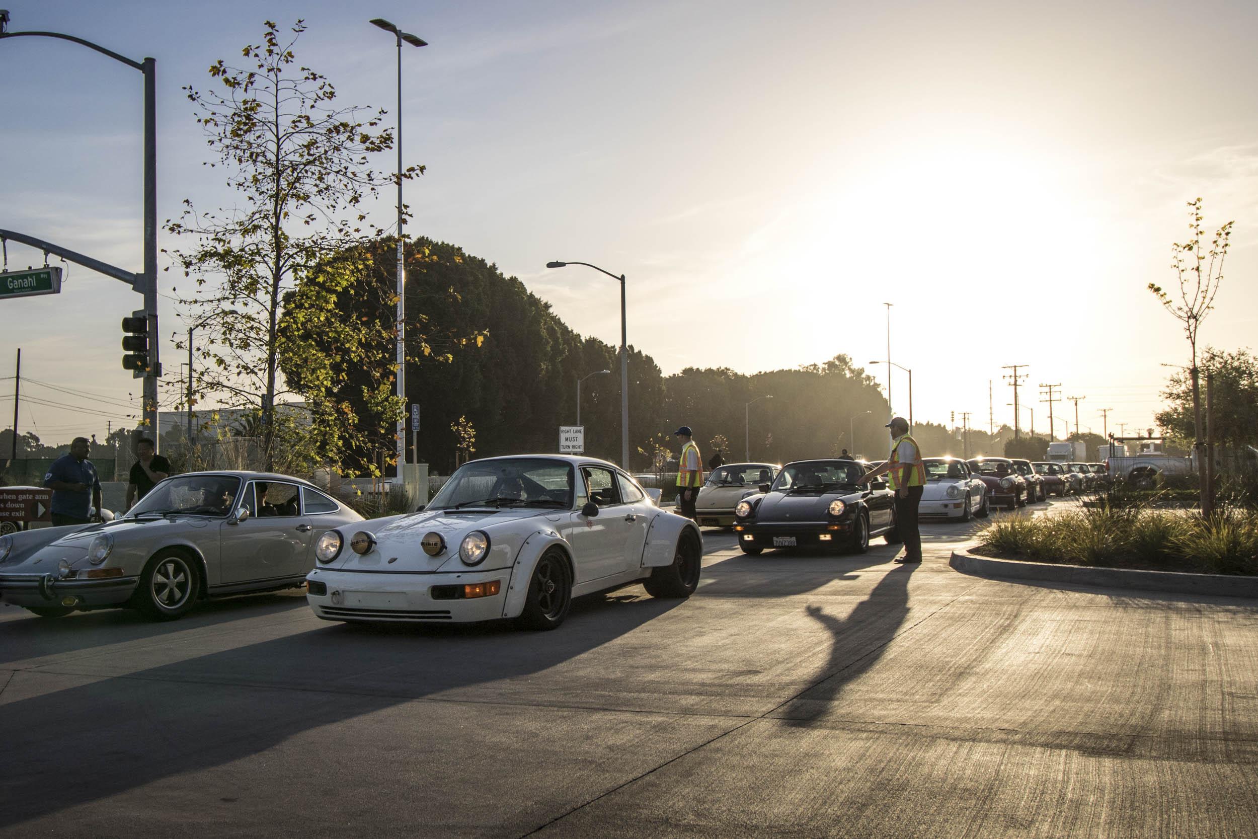 lineup of cars to enter Luftgekühlt