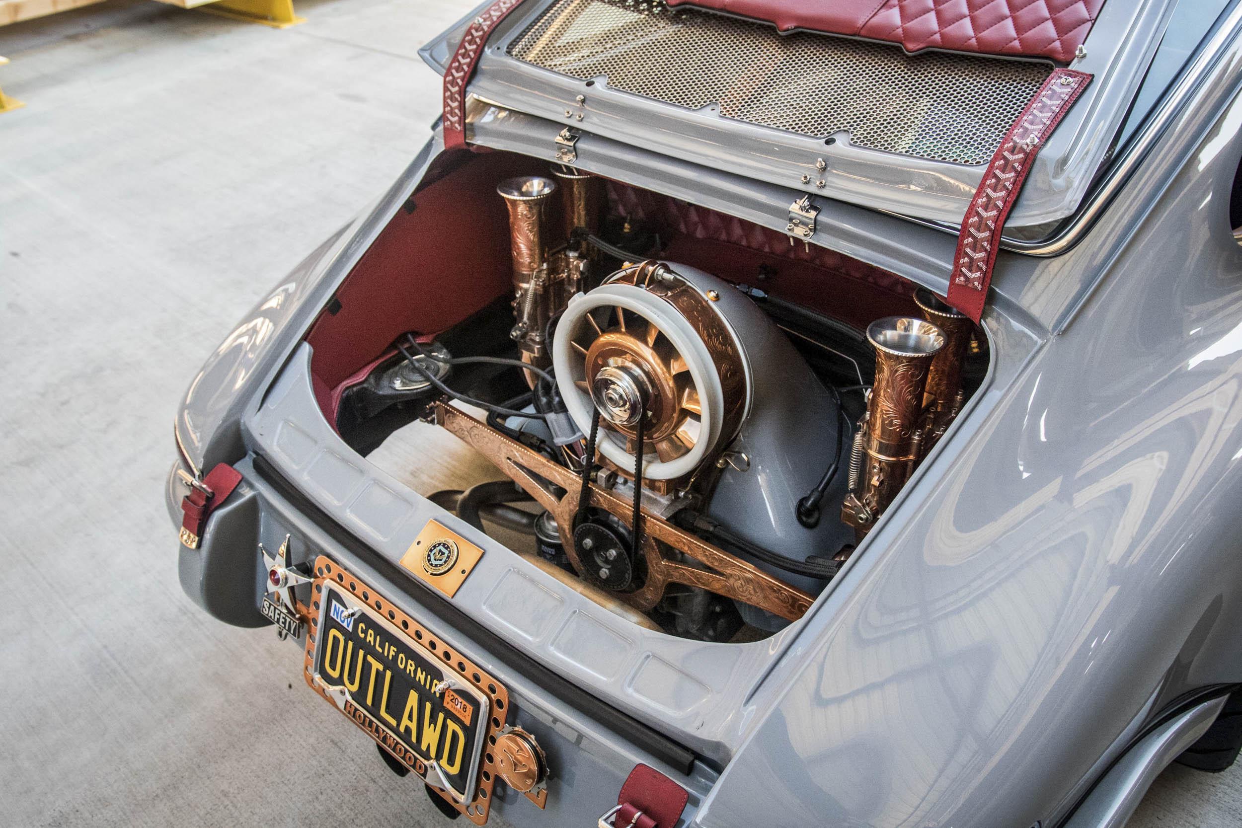 custom Porsche 911 engine at Luftgekühlt